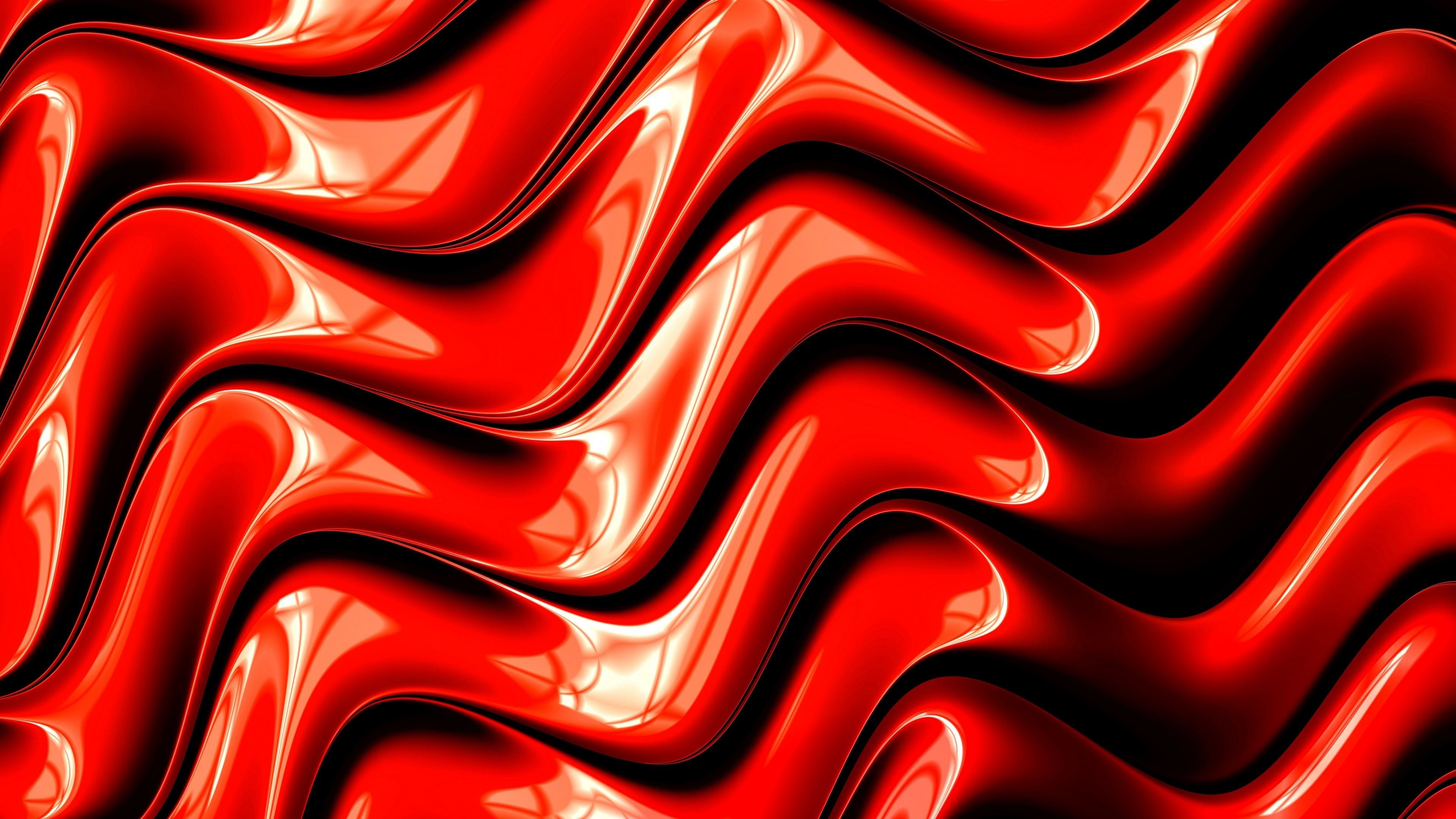 3840x2160 Cool red 3D graphic design wallpaper
