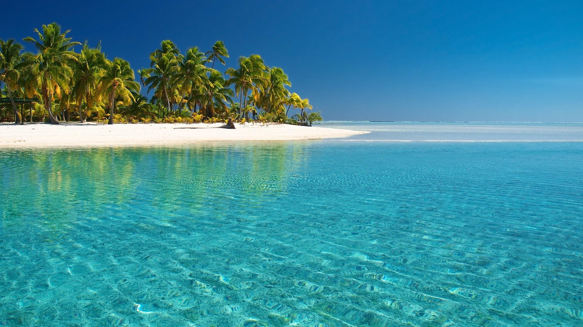 1920x1080 Crystal Clear Beach HD Desktop Wallpaper, Background Image