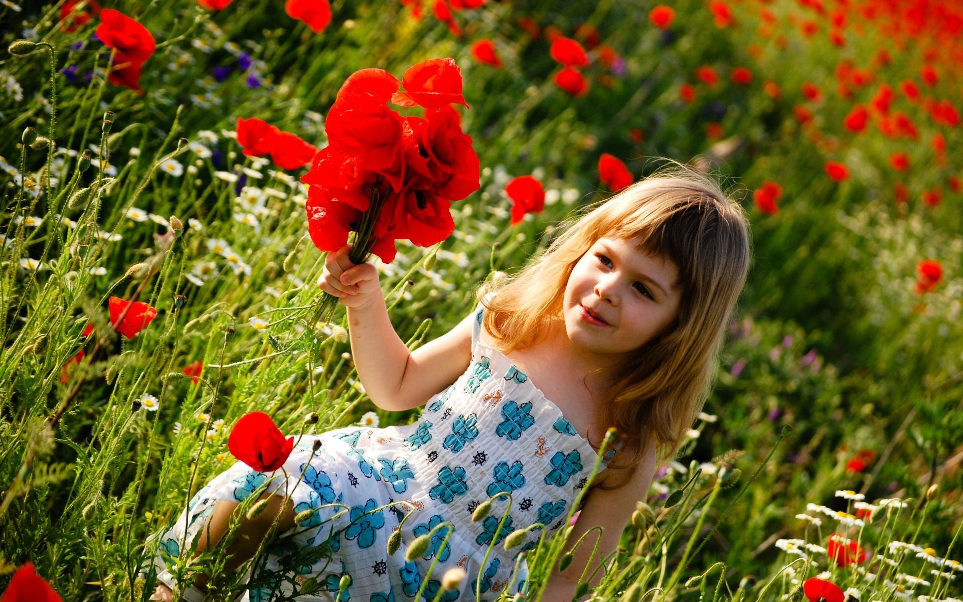 1920x1200 Wallpapers Backgrounds - people children kids cute females girls blondes  nature garden fields