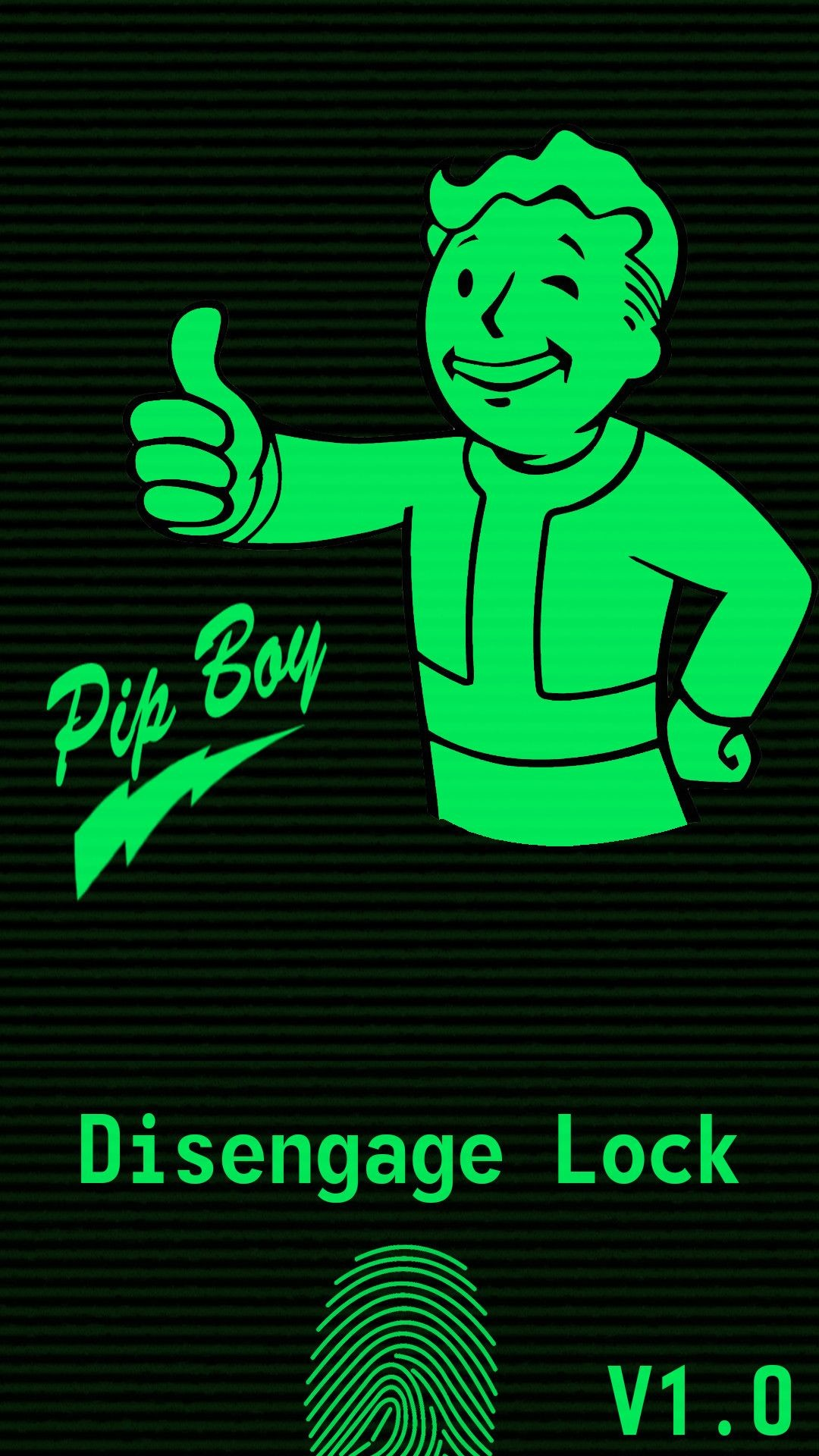 1080x1920 Samsung S5 [With Fingerprint] Pipboy Wallpaper by Harknus