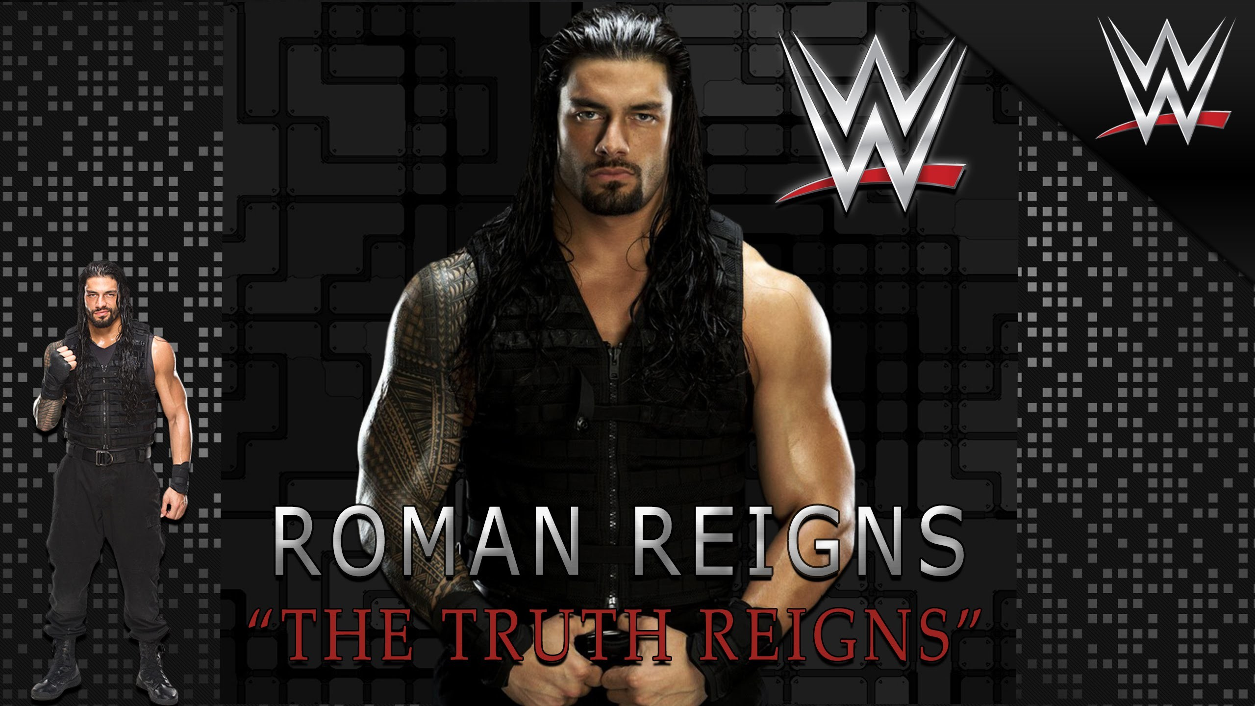 2560x1440 Roman Reigns WWE champ