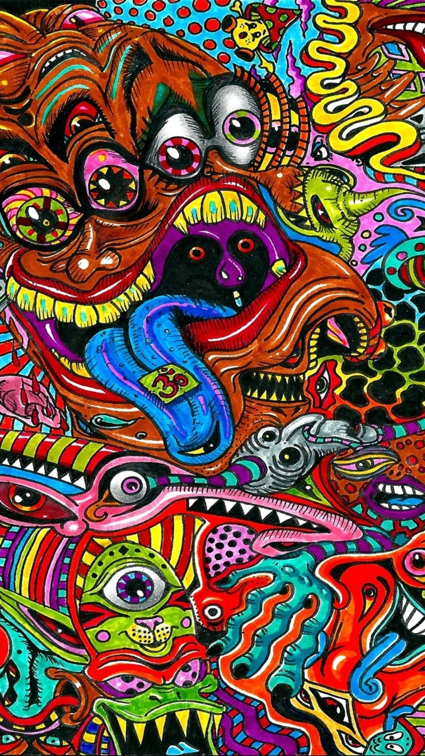 1440x2560 Psychedelic Backgrounds Wallpaper Cave Source ·  Wallpaper drawing  surreal colorful psychedelic