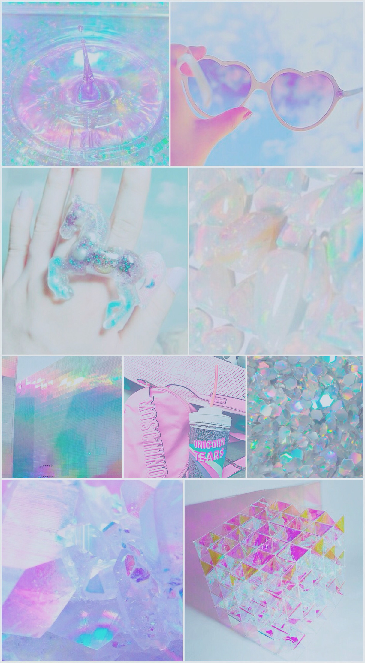 1216x2208 iridescent, wallpaper, background, iPhone, android, unicorn, blue, purple,