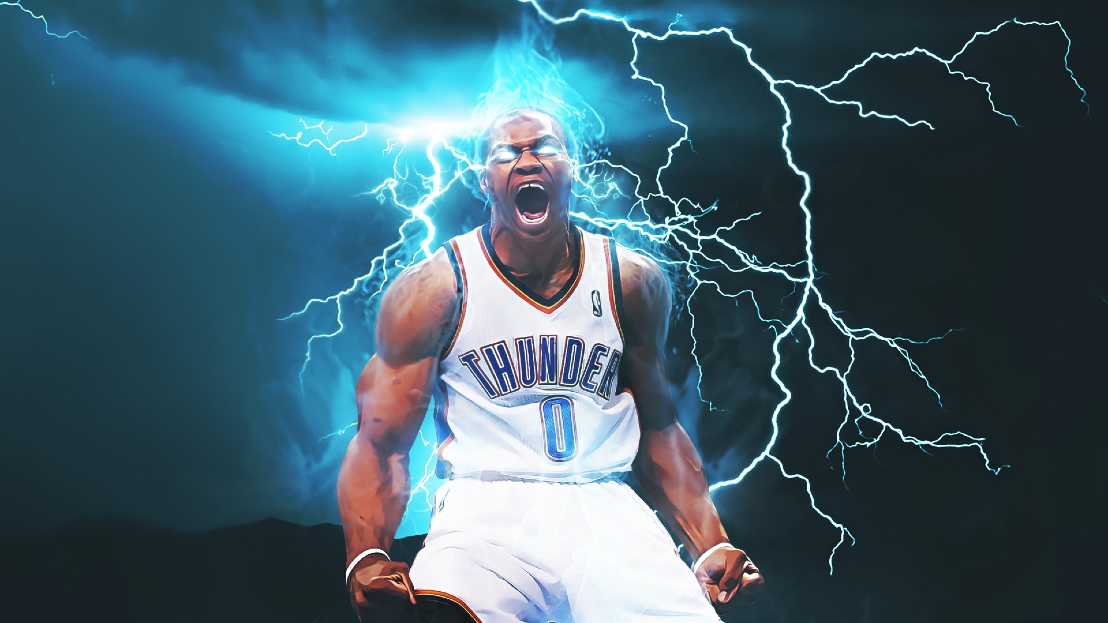 3840x2160 ... download  oklahoma city thunder rus westbrook; rus westbrook  wallpaper 2016 ...