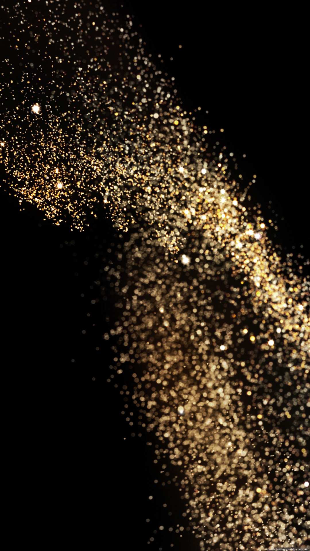 Falling golden particles on a black ... | Stock Vector ...