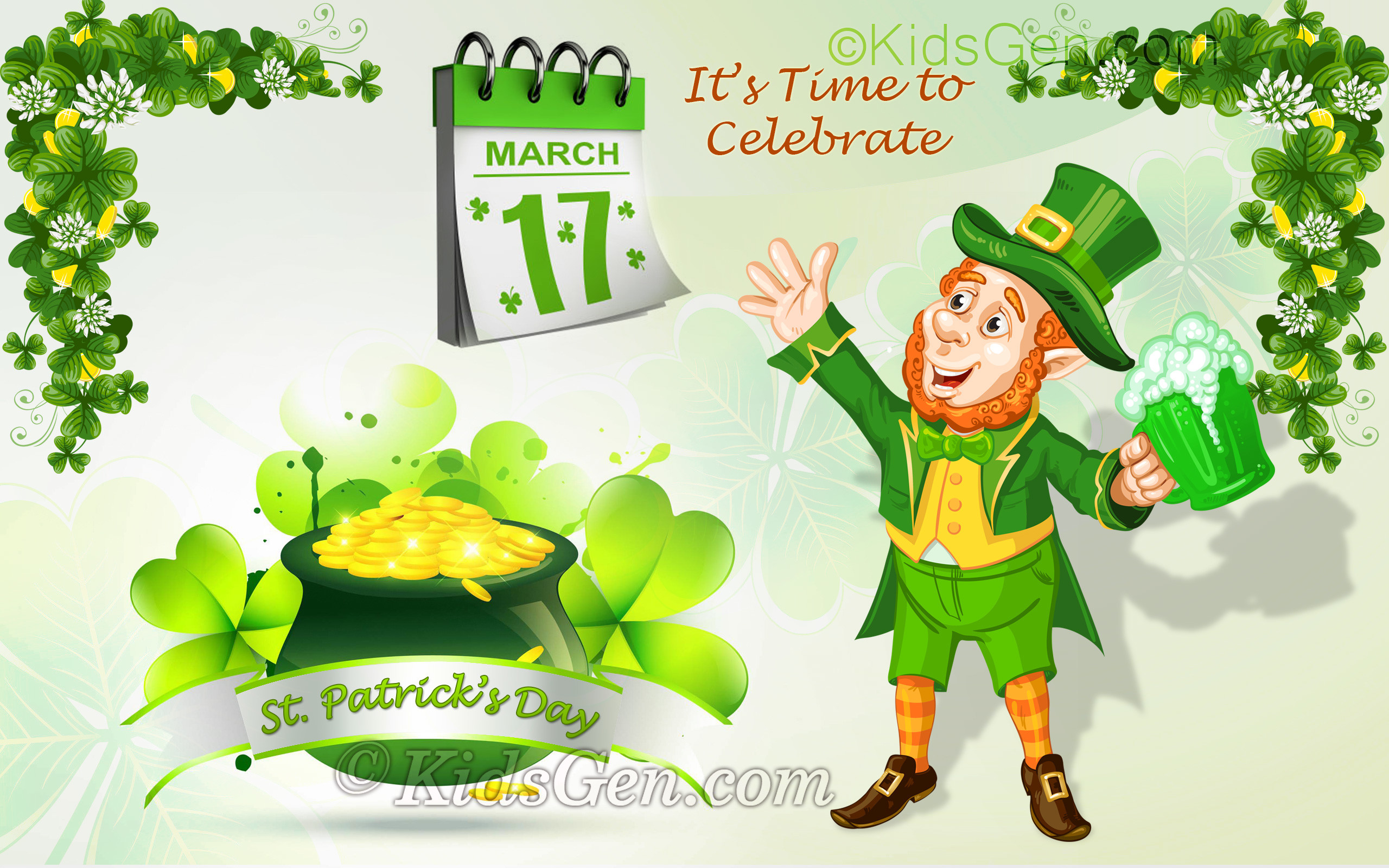 2560x1600 St. Patrick's Day Wallpaper for kids