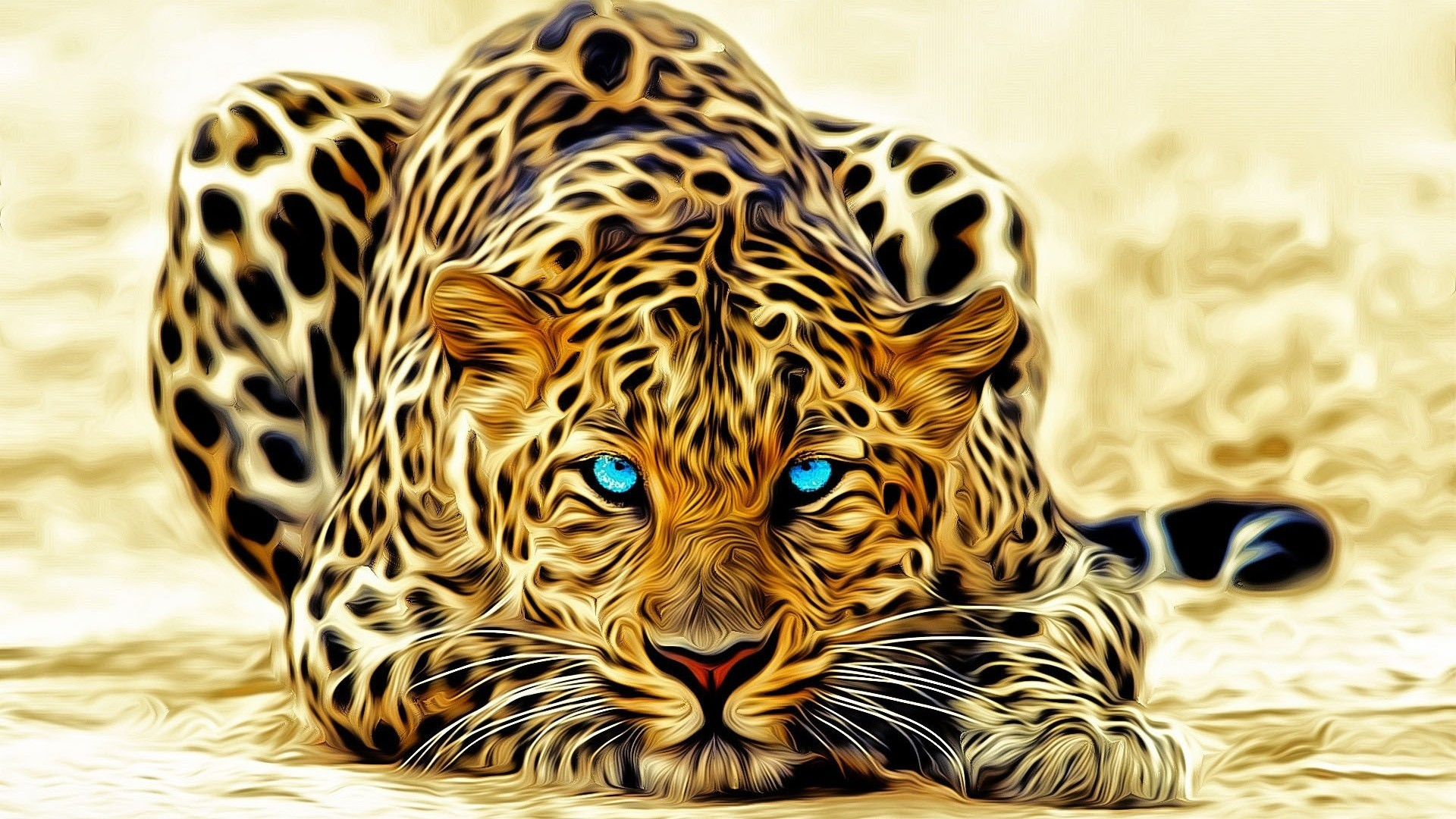 1920x1080 Leopard 3D Wallpaper Screensaver download 3d desktop wallpapers