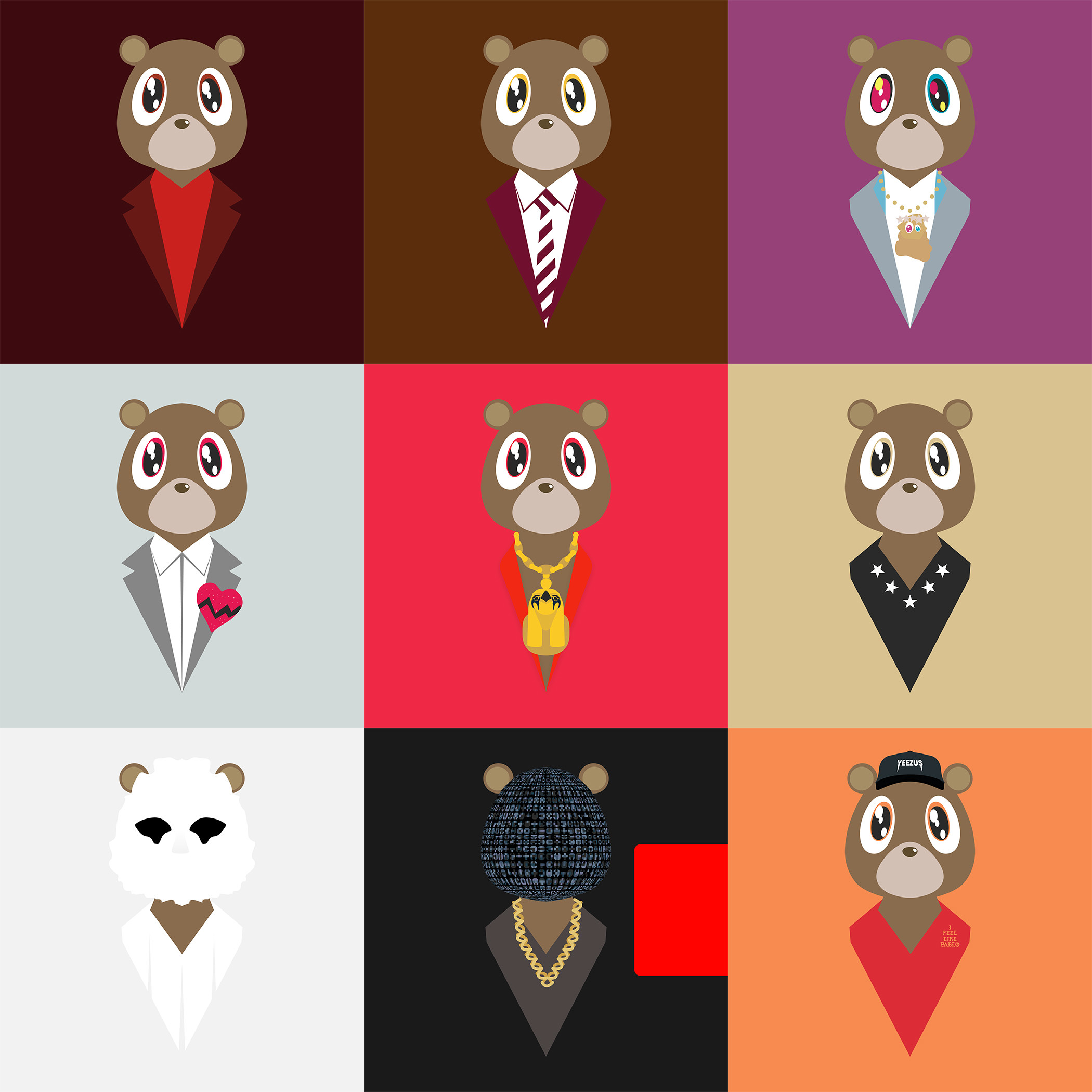 2100x2100 Degausser's Dropout Bears + Other (Finally Updated) Â« Kanye West Forum