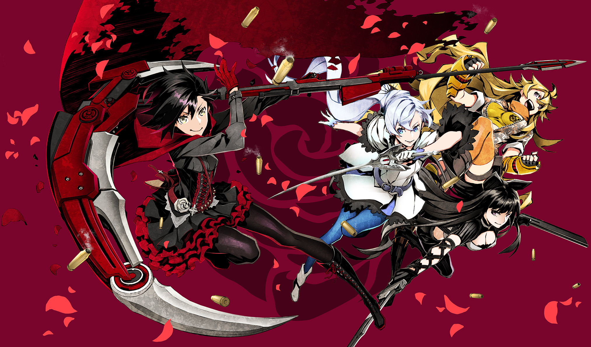 2026x1192 Anime - RWBY Blake Belladonna Ruby Rose (RWBY) Weiss Schnee Yang Xiao Long  Wallpaper