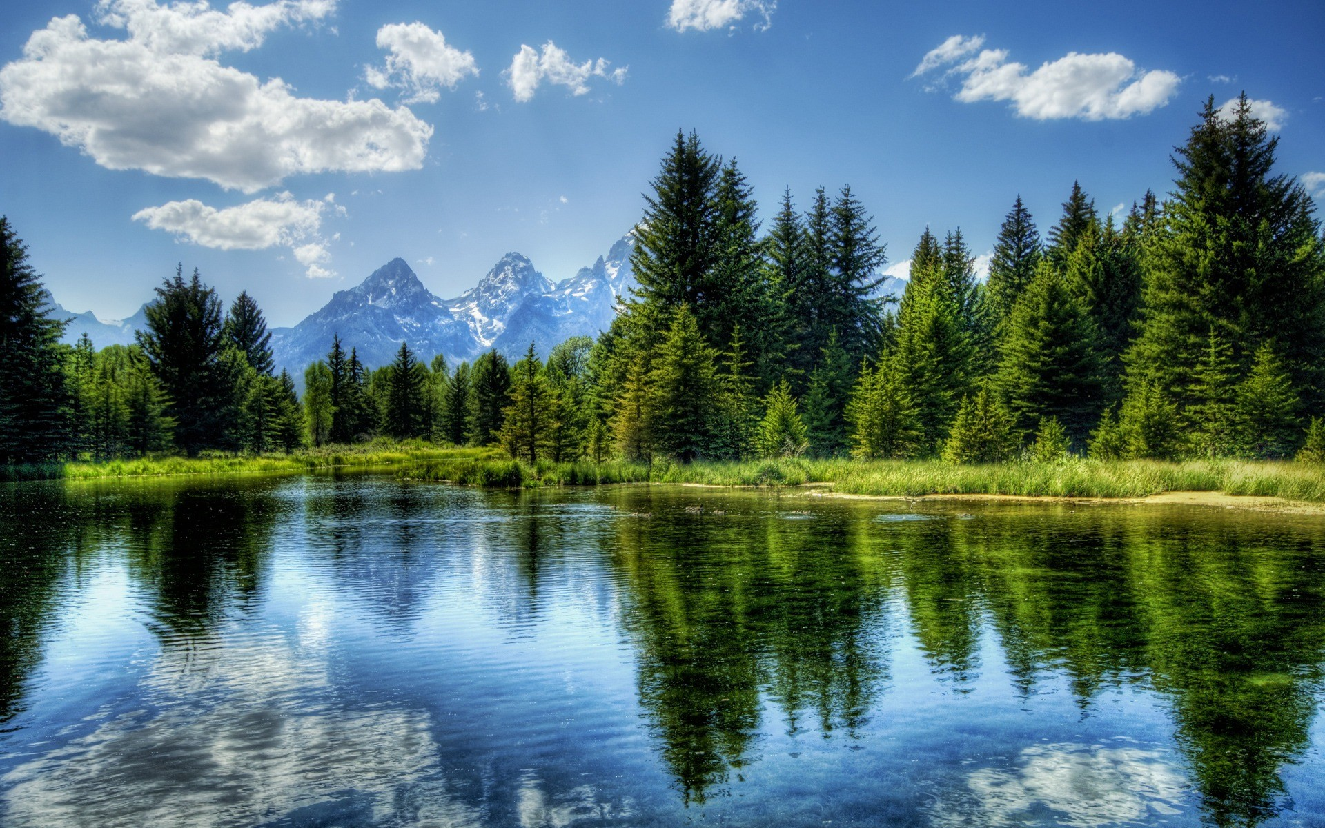 peaceful nature wallpapers lake landscape