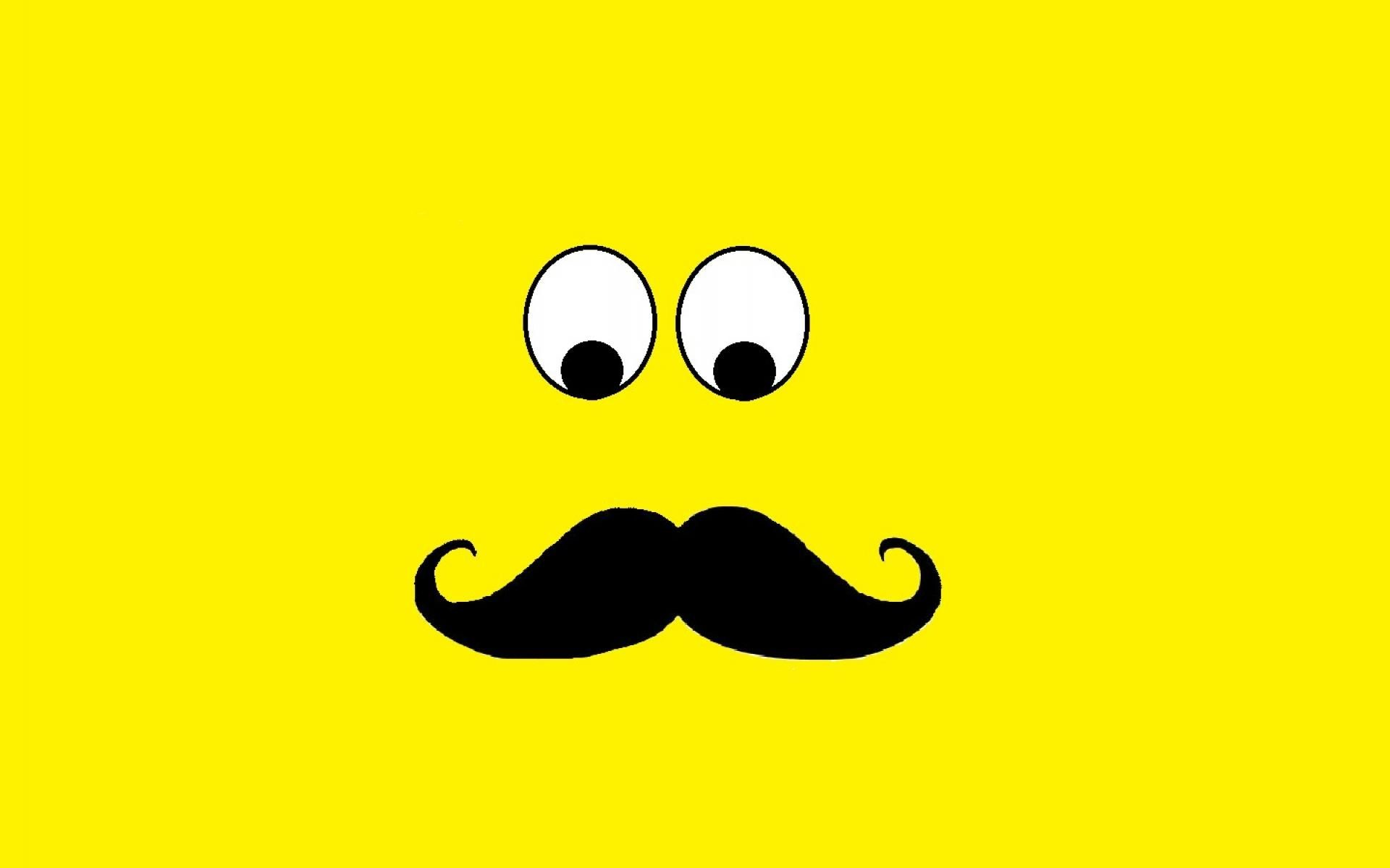 1920x1200 Eyes yellow men moustache guy mustache wallpaper | (66059)