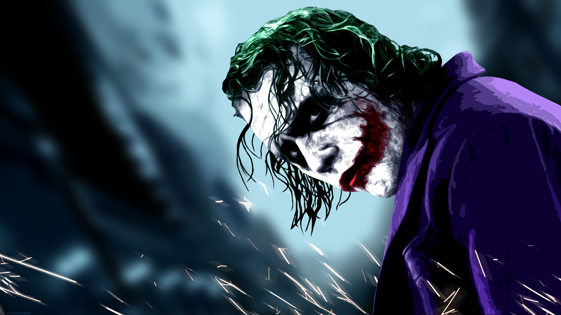 Joker Wallpaper Heath Ledger Drawing