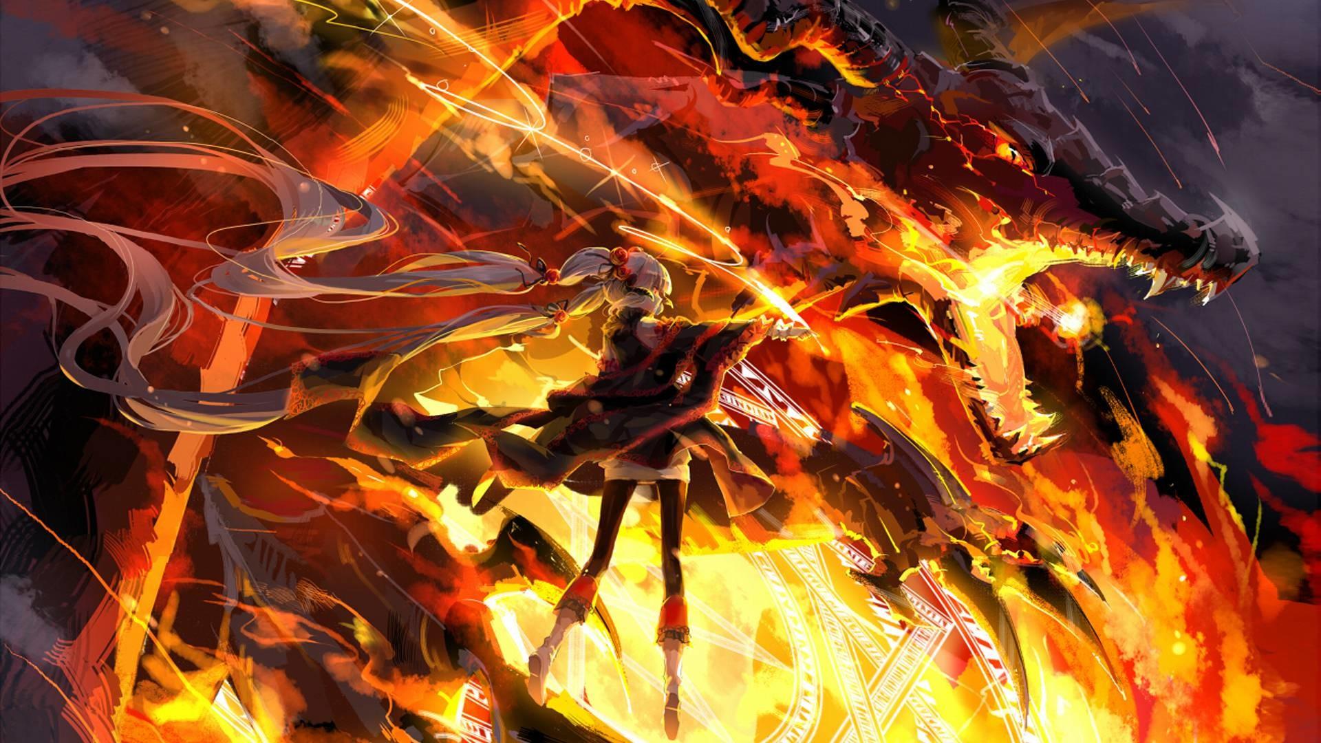 1920x1080 3d Fire Dragon Wallpapers