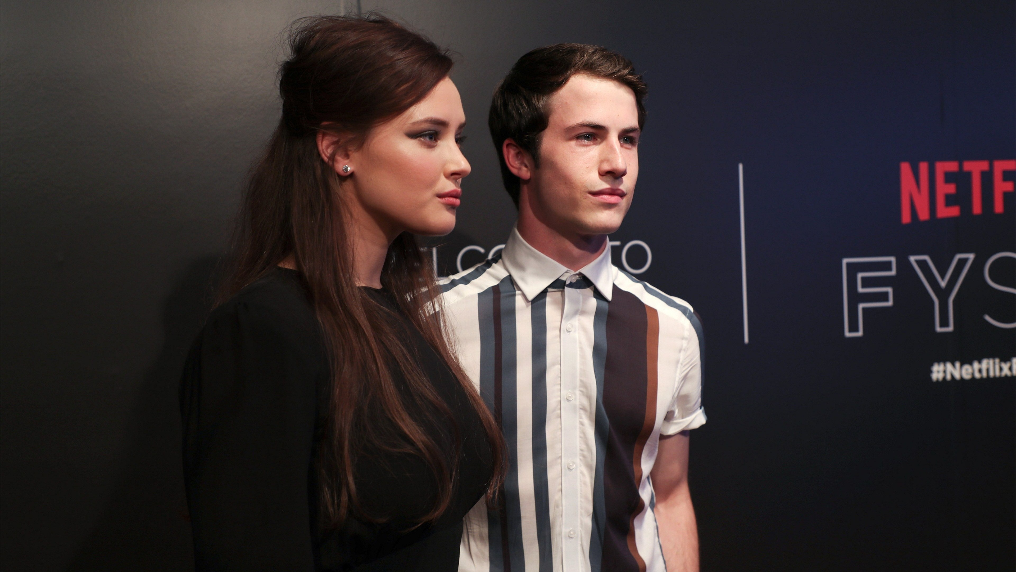 3840x2160 Katherine Langford and Dylan Minnette 13 Reasons Why FYC Event in LA 2017  4K Wallpaper