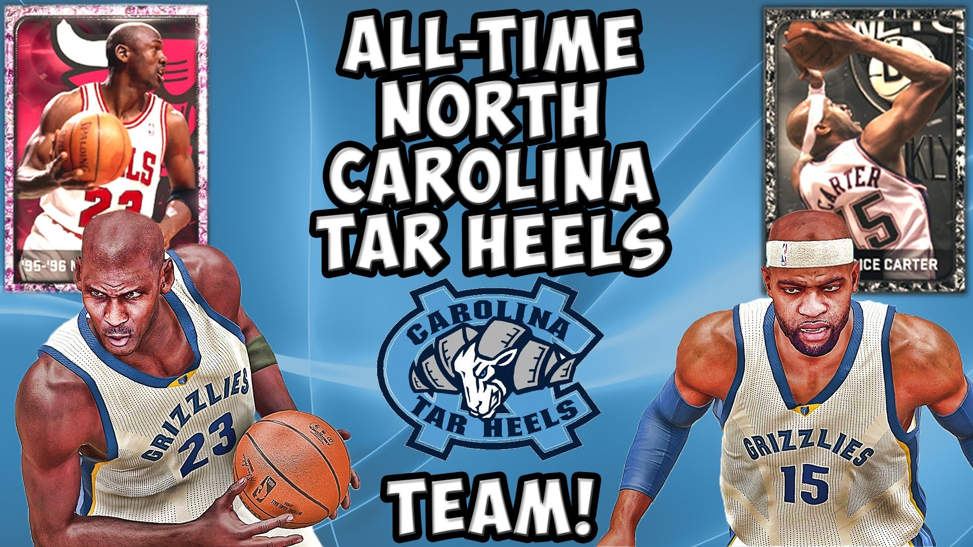 1920x1080 All-Time North Carolina Tar Heels Team - NBA 2K15 MyTeam - Pink Diamond  Michael Jordan Debut! - YouTube