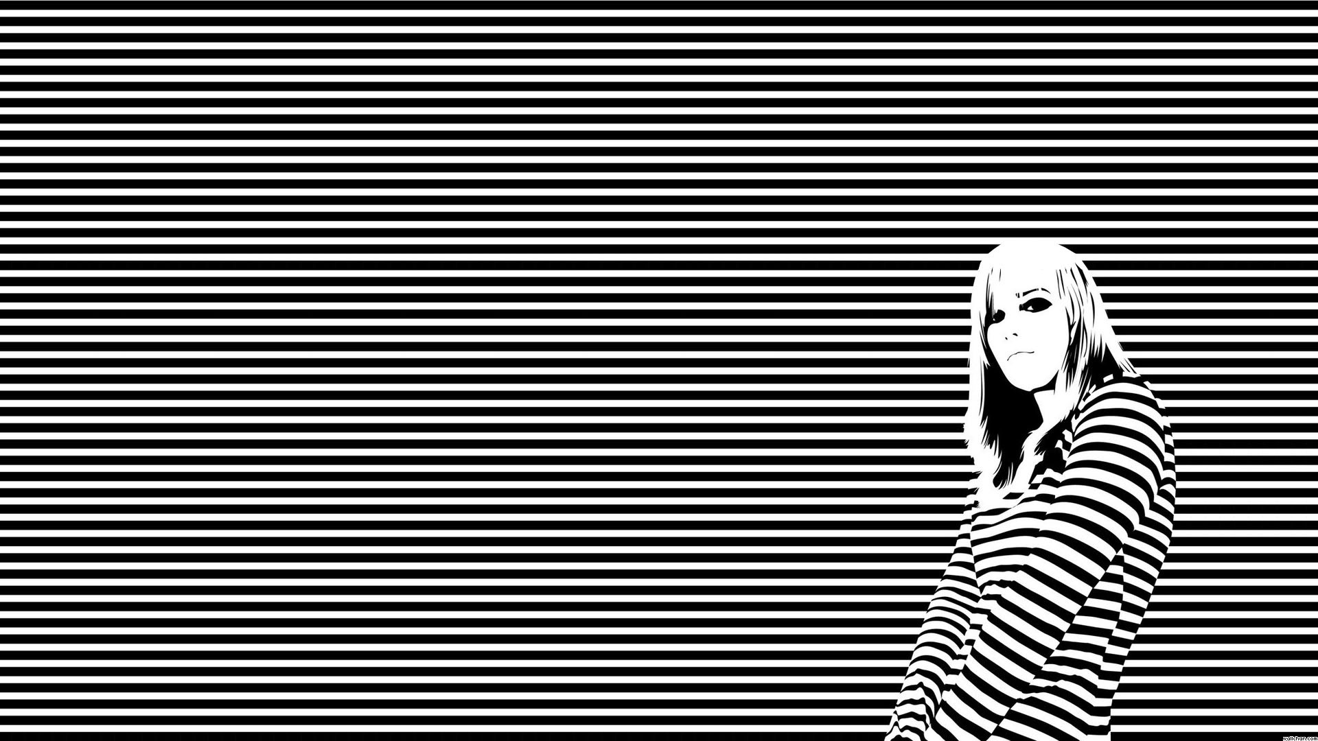 1920x1080 Featured Posts. Tired Girl Black and White Wallpaper ...