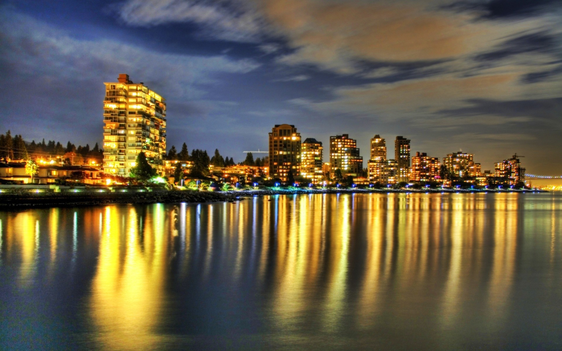 1920x1200 Sky, Capital City, New York City, Skyline, West Vancouver Wallpaper in