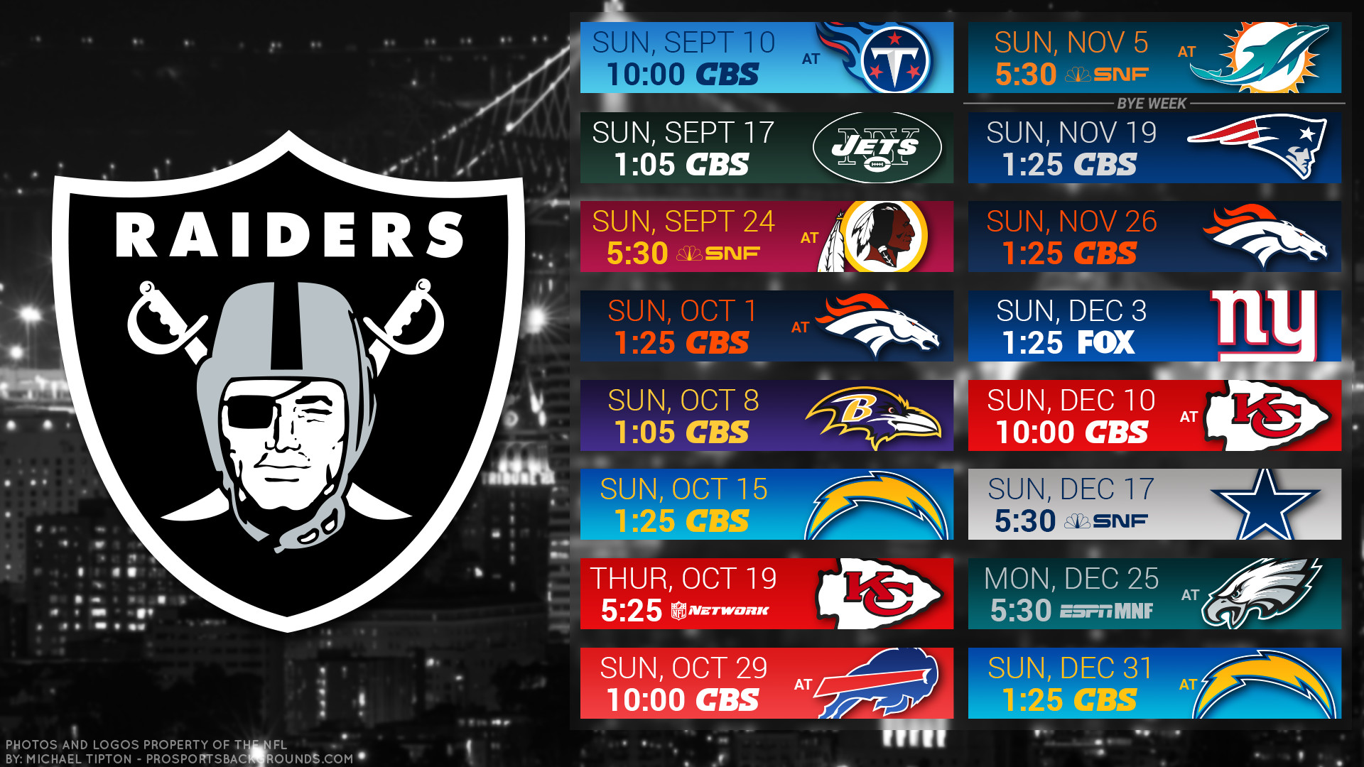 1920x1080 Oakland Raiders 2017 schedule city football logo wallpaper free pc desktop  computer ...