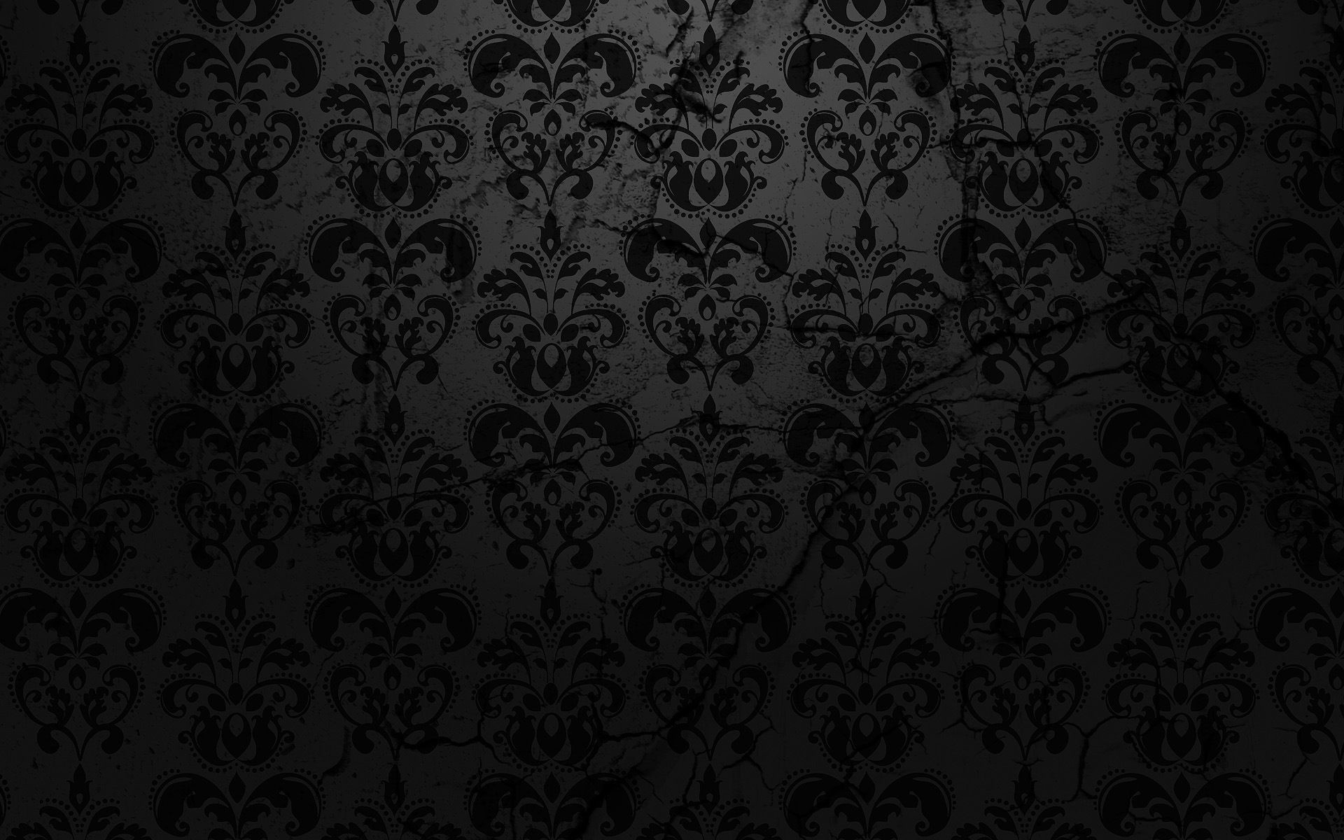 1920x1200 Cool Black On Damask Textured Wallpaper px