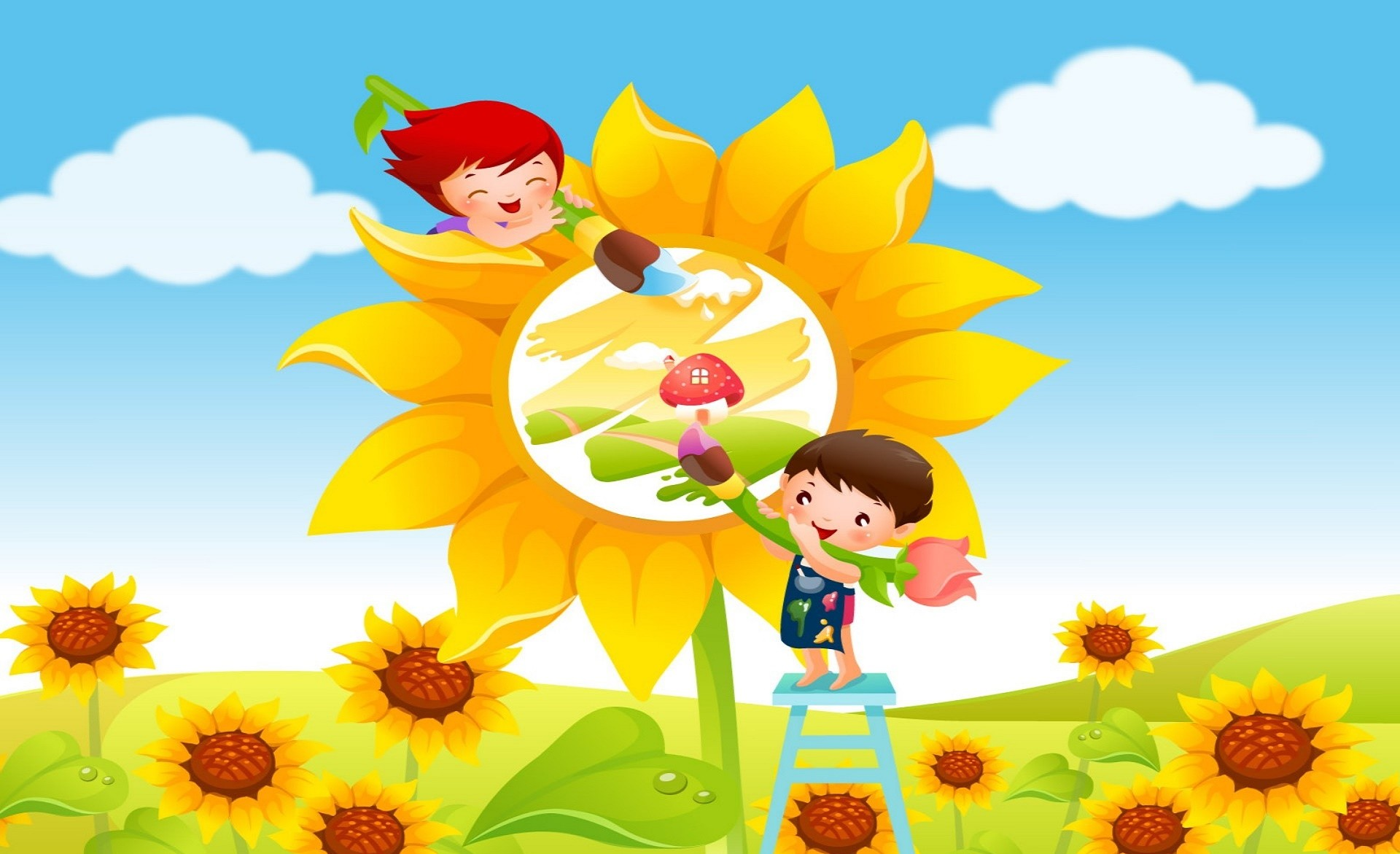 1920x1171 Cute Kids Free Cartoon Children Games Wallpapers.