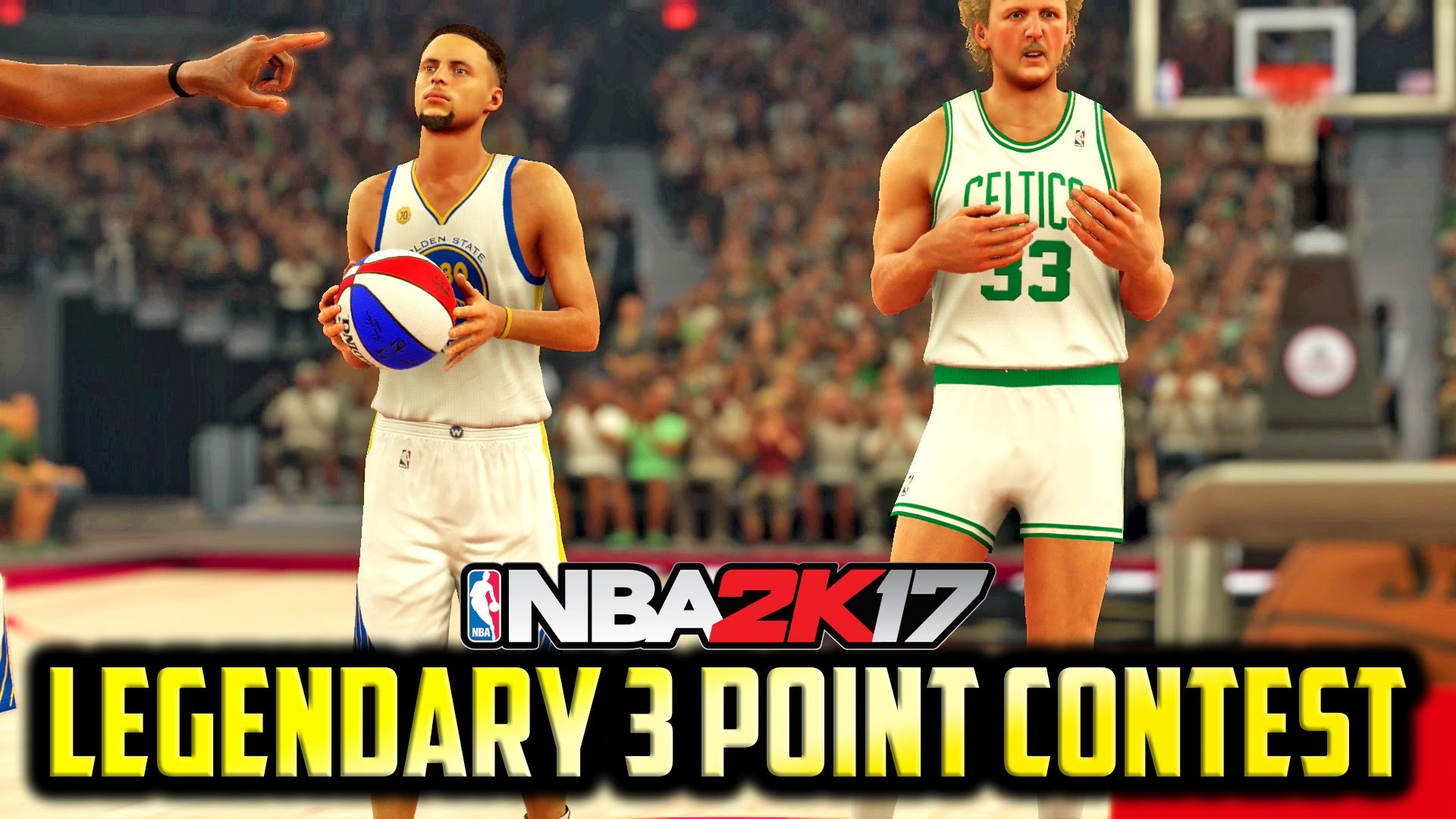 1920x1080 NBA 2K17 - Stephen Curry vs Larry Bird vs Kevin Durant (Legendary 3 Point  Contest!!) - YouTube