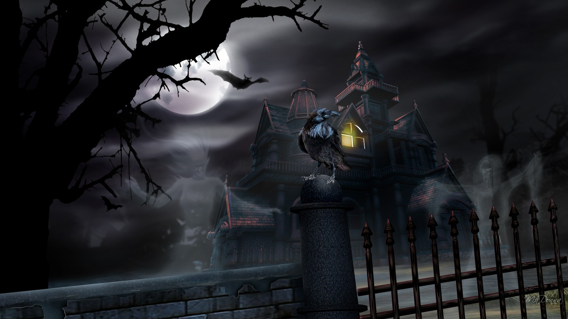 1920x1080 Haunted Halloween House - Other Wallpaper ID 805988 - Desktop Nexus Nature