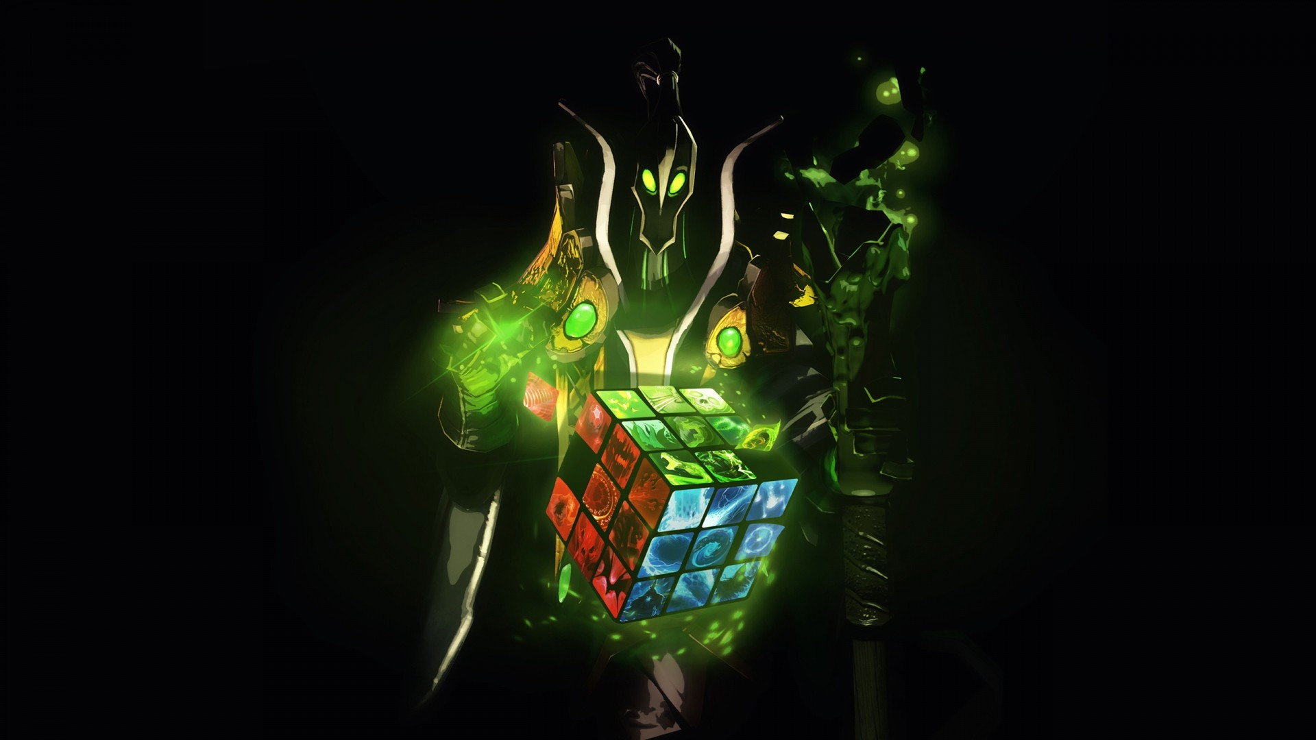 1920x1080 Preview wallpaper dota 2, rubick the grand magus, rubiks cube