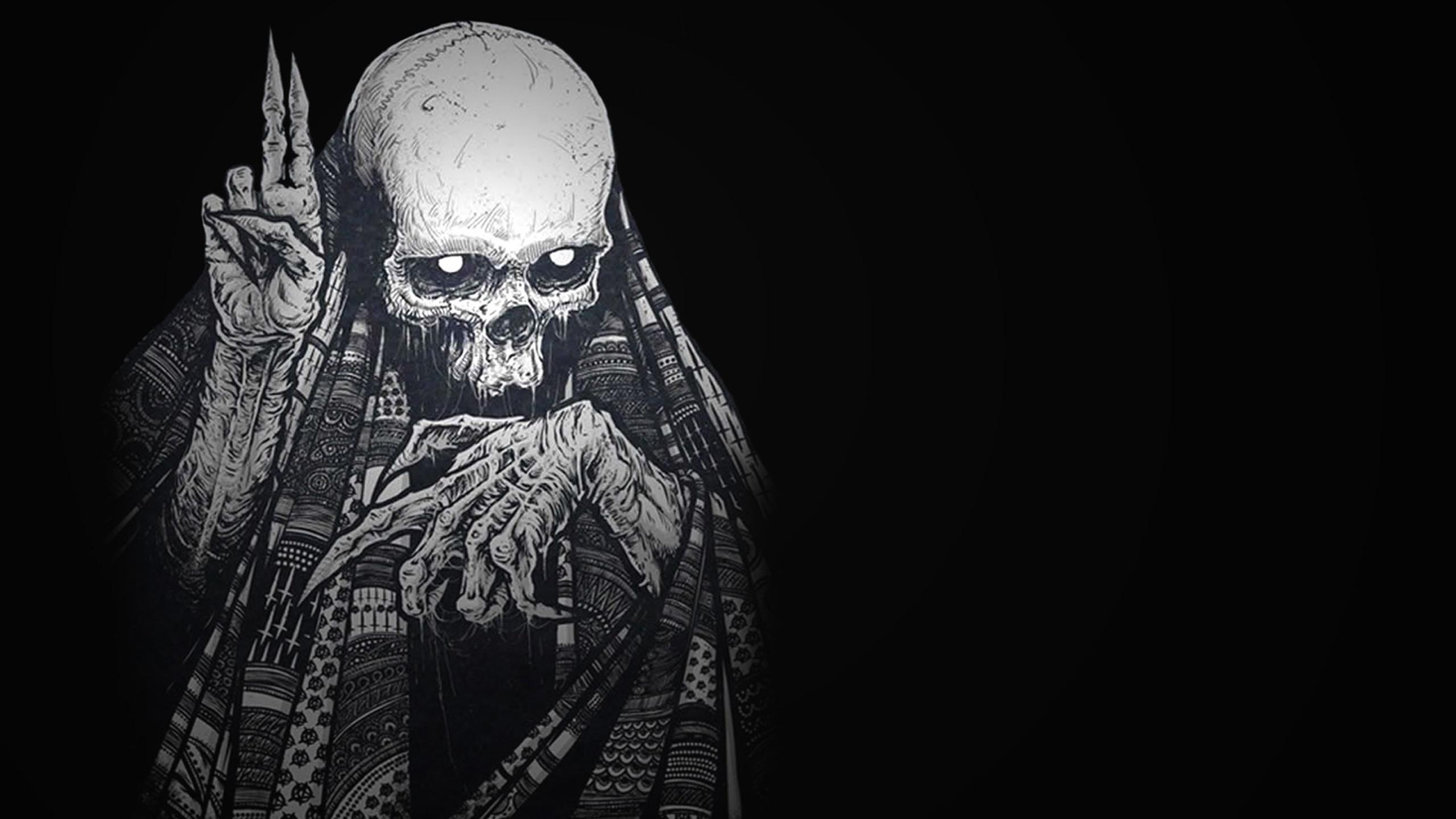 2560x1440 2560x1440 Black Skull HD desktop wallpaper : High Definition : Fullscreen 1366×768 Skull