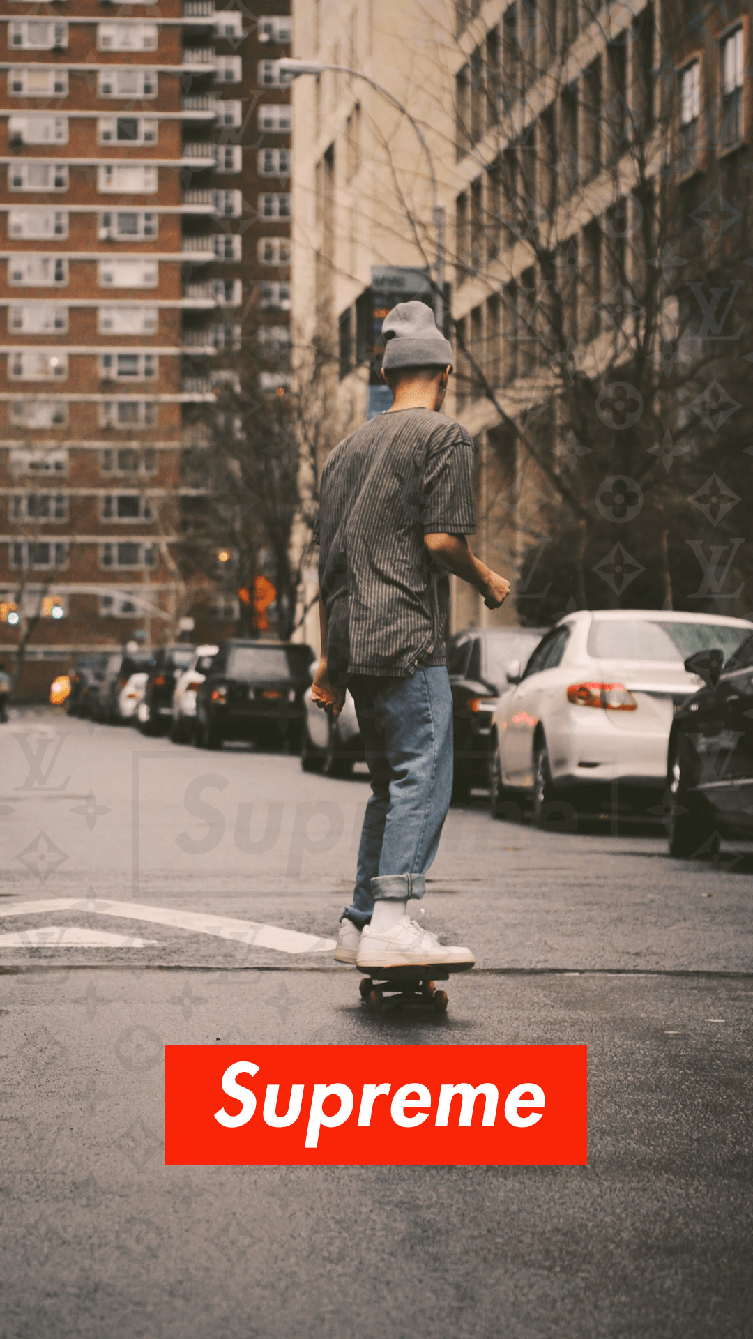 1080x1920 ... Skate board Louis Vuitton Supreme wallpaper ...