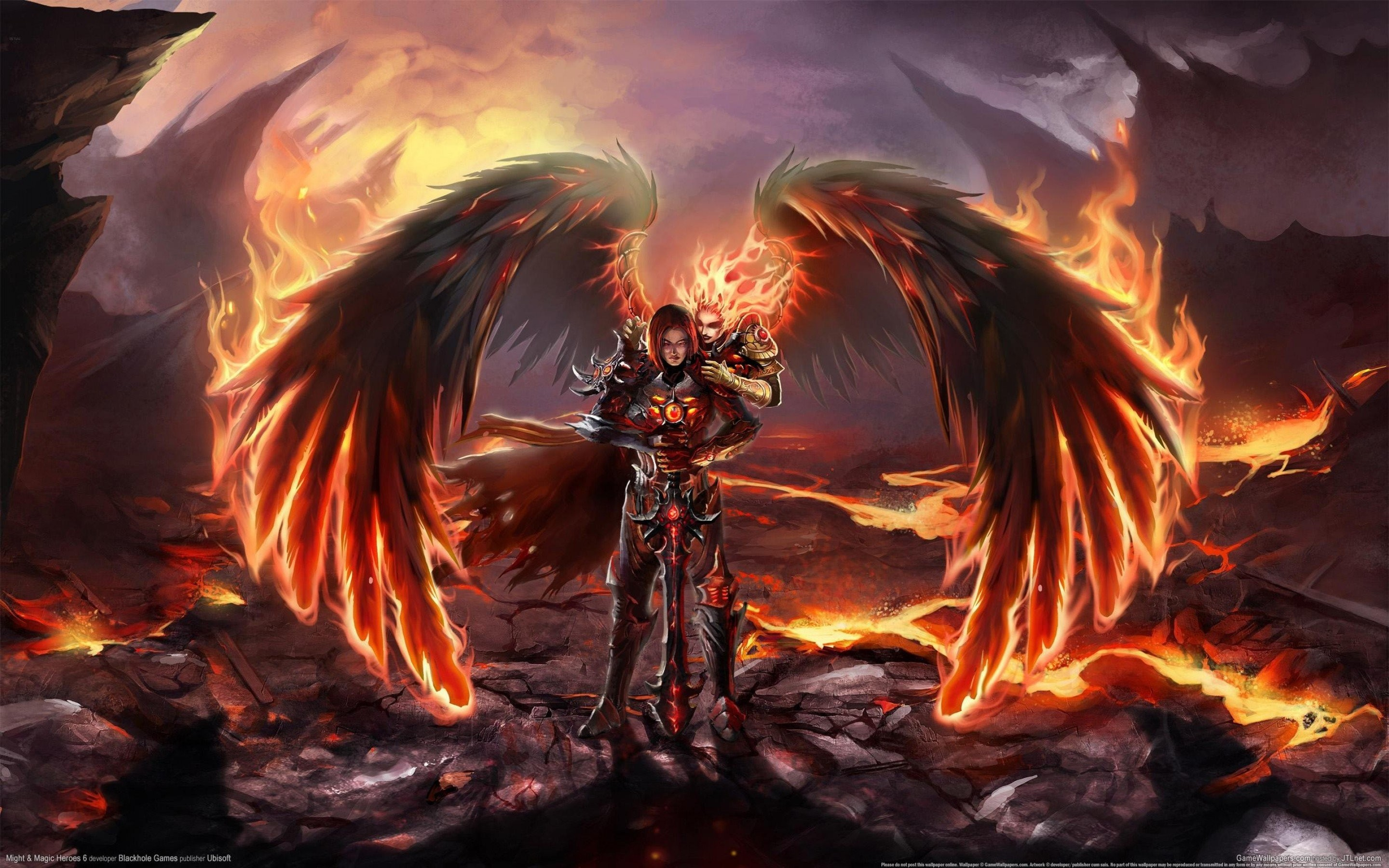 2880x1800 Demon Vs Angel - WallDevil Angel Vs Demons War | Angels of War | Pinterest  | Angel wallpaper .