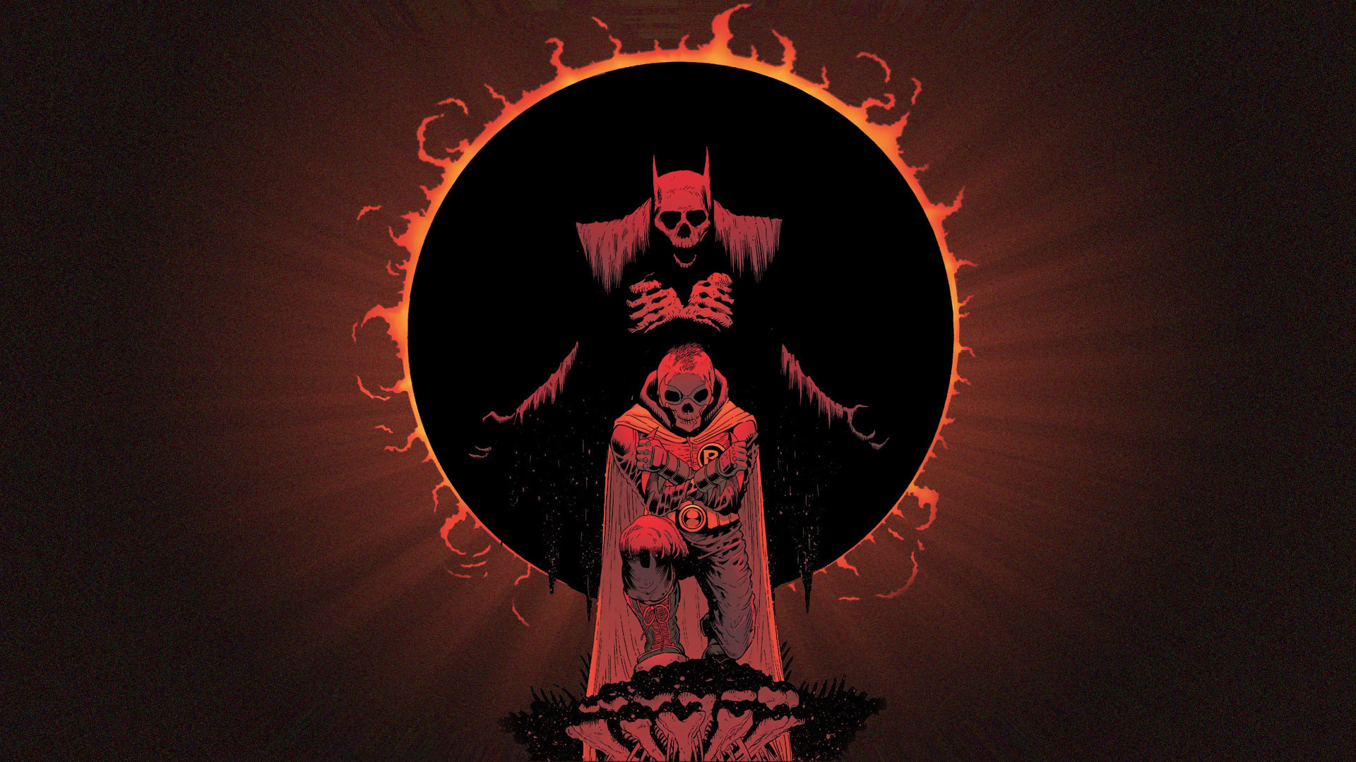 1920x1080 Comics - Batman Dark Demon Skull Evil Robin (Batman) Wallpaper