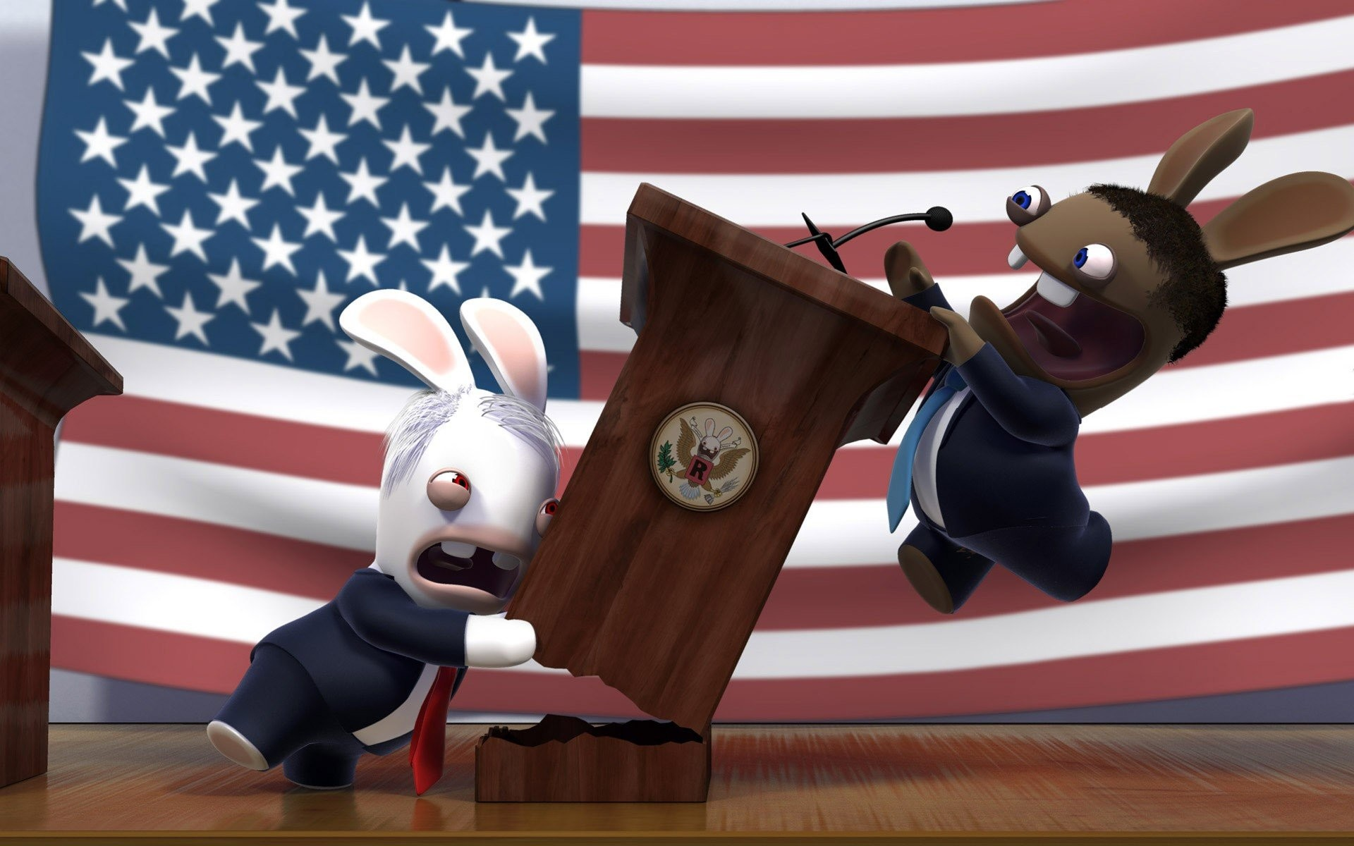 1920x1200 rabbit mccain obama president fight funny