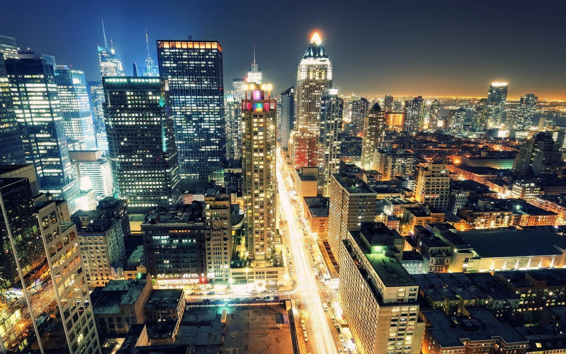 1920x1200 City Skyline Night Drawing Full Hd Wallpapers Wallpaper 1920x1200px