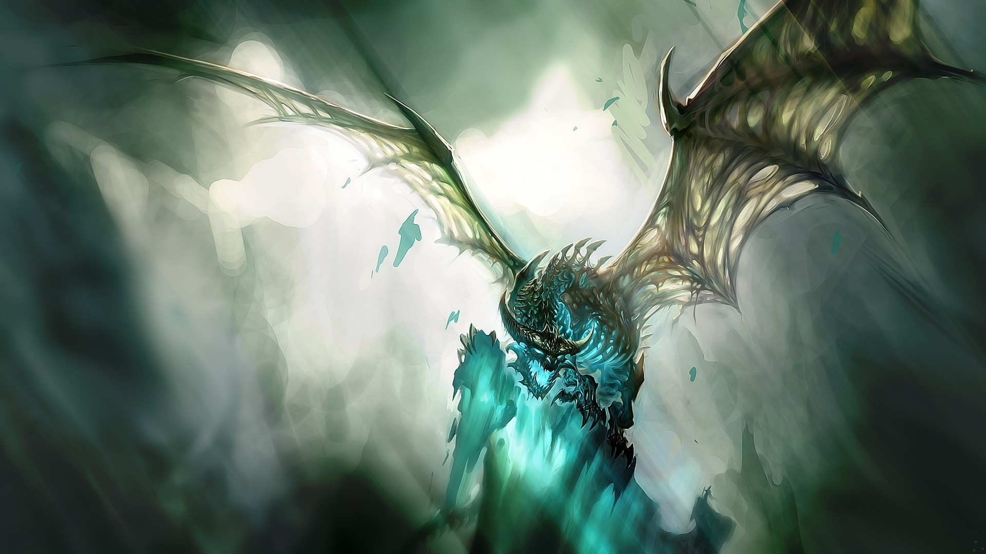 1920x1080 world of warcraft, dragon, wings