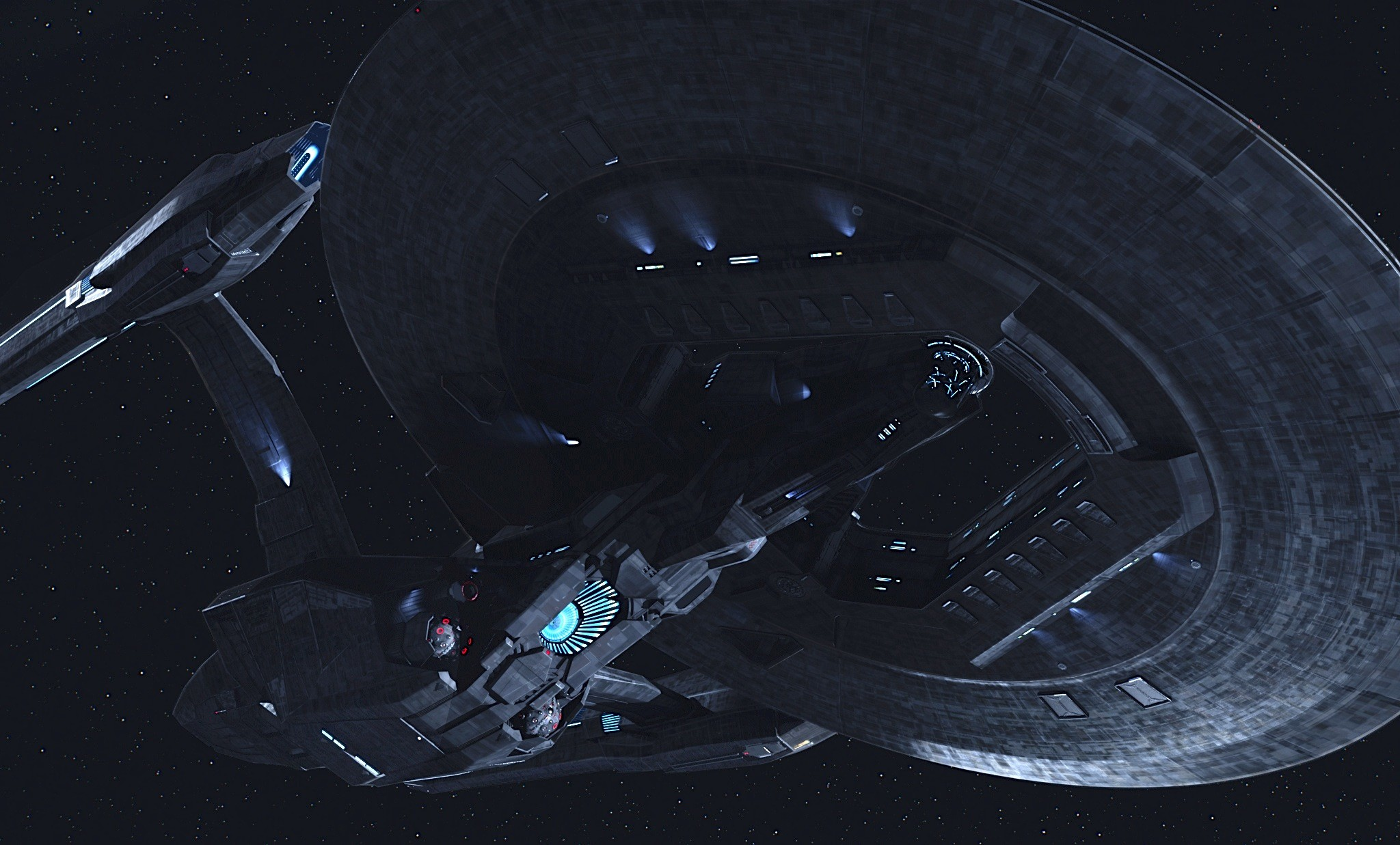 2048x1237 Star Trek Starship Enterprise Spaceship Dark Enterprise .