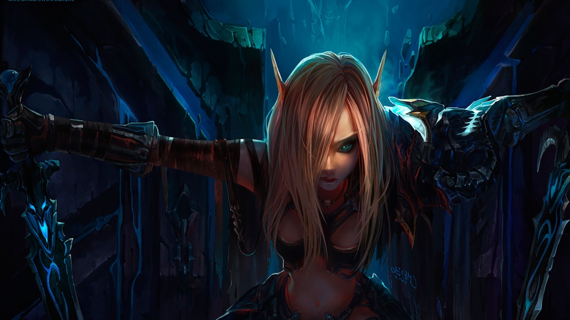 1920x1080 World Of Warcraft Horde Wallpaper  Elf woman - world of .