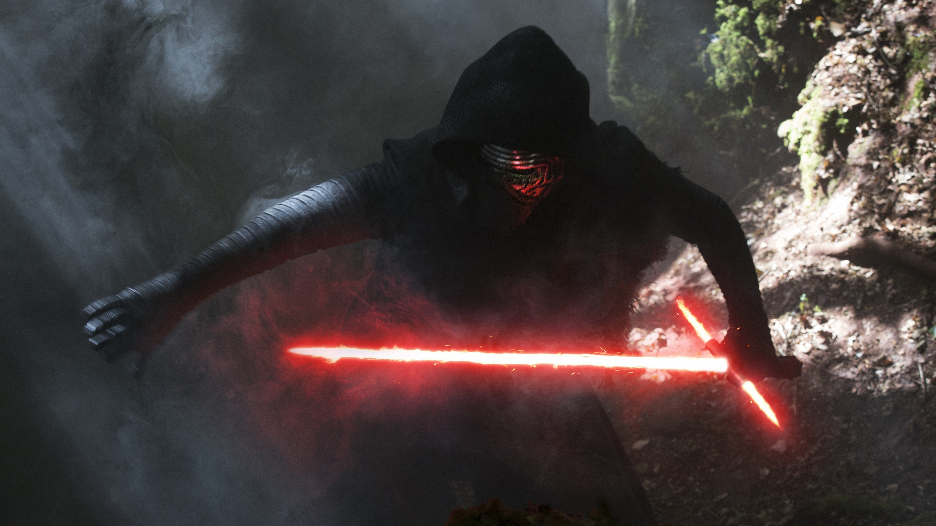 3840x2160 Kylo Ren, Star Wars: The Force Awakens, Lightsaber Wallpapers HD / Desktop  and Mobile Backgrounds
