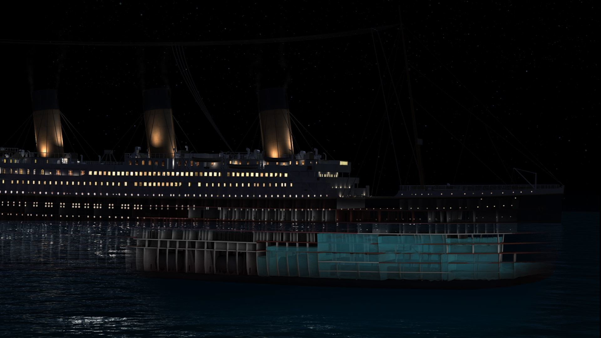 1920x1080 Titanic Sinking CGI - Titanic: 100 Years Video - National Geographic Channel