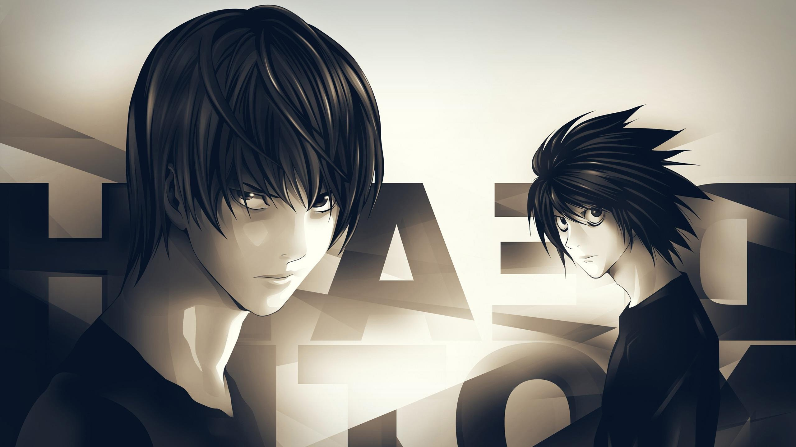 2560x1440 Death Note Anime (1366x768 Resolution)