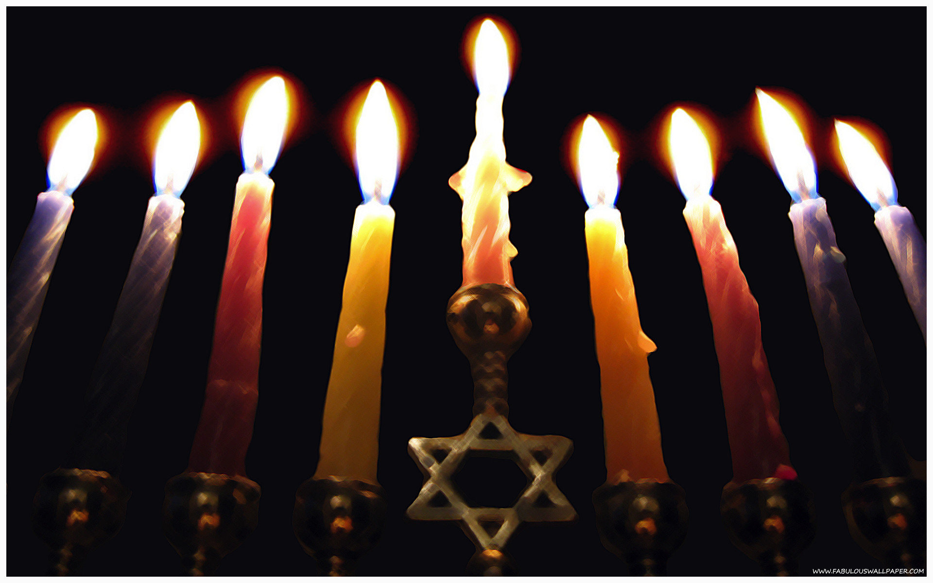 1920x1200 Menorah Wallpaper