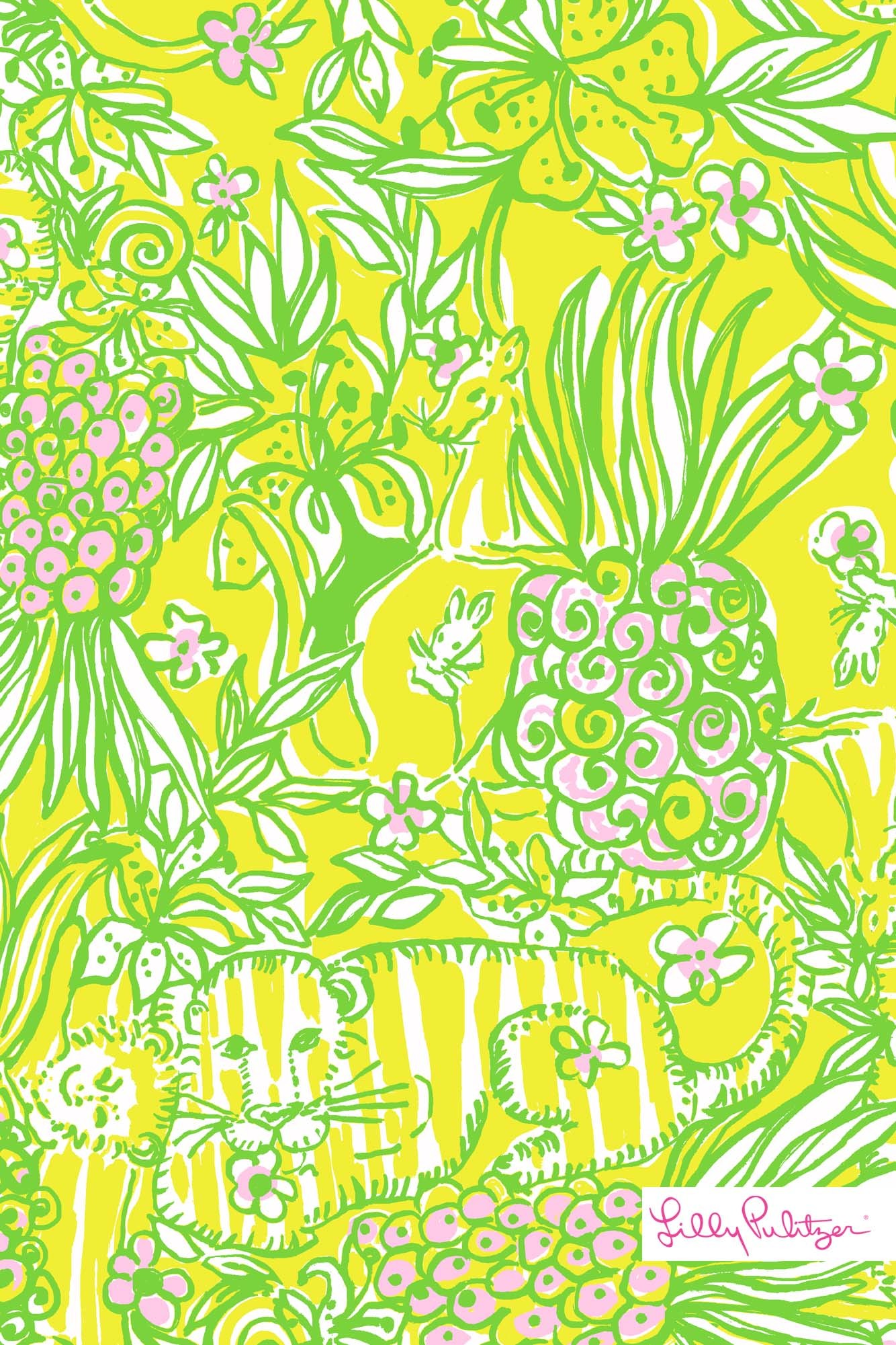 1334x2001 Lilly Pulitzer Crazy Cat House Wallpaper for iPhone