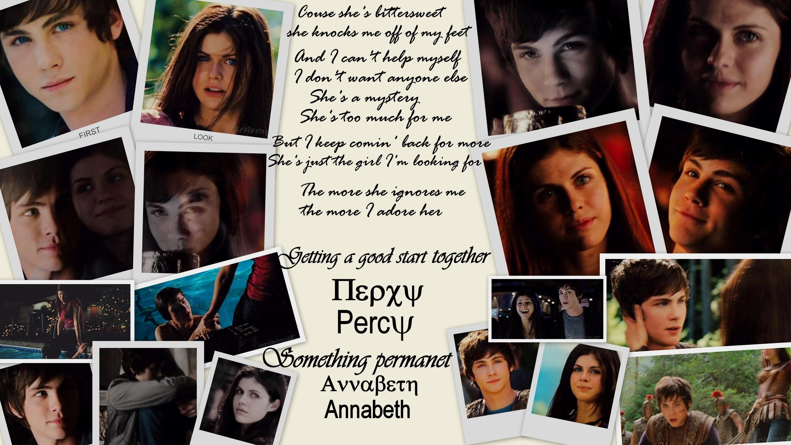 are percy and annabeth dating in the movie