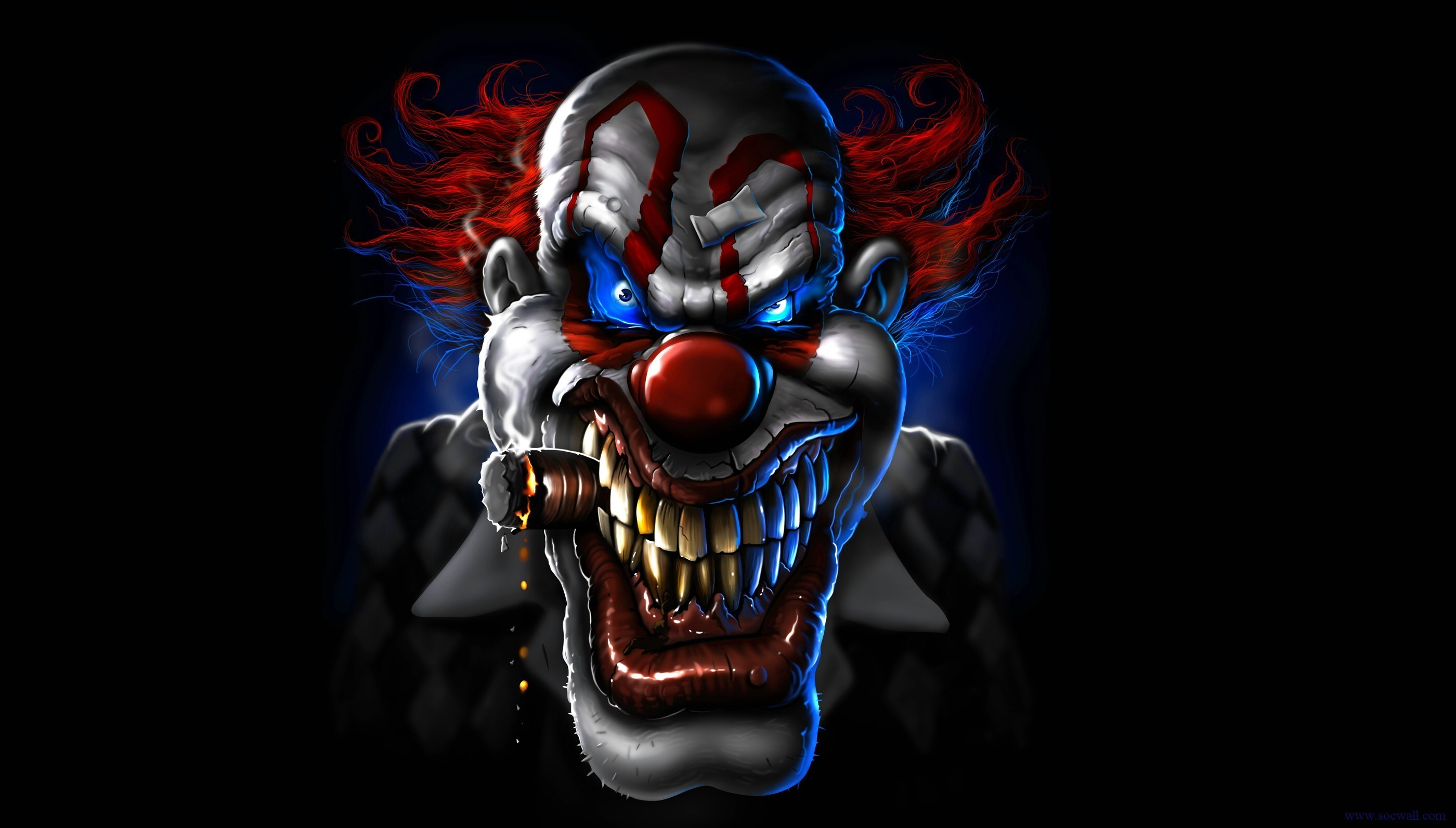 2800x1593 Scary Clown Wallpapers