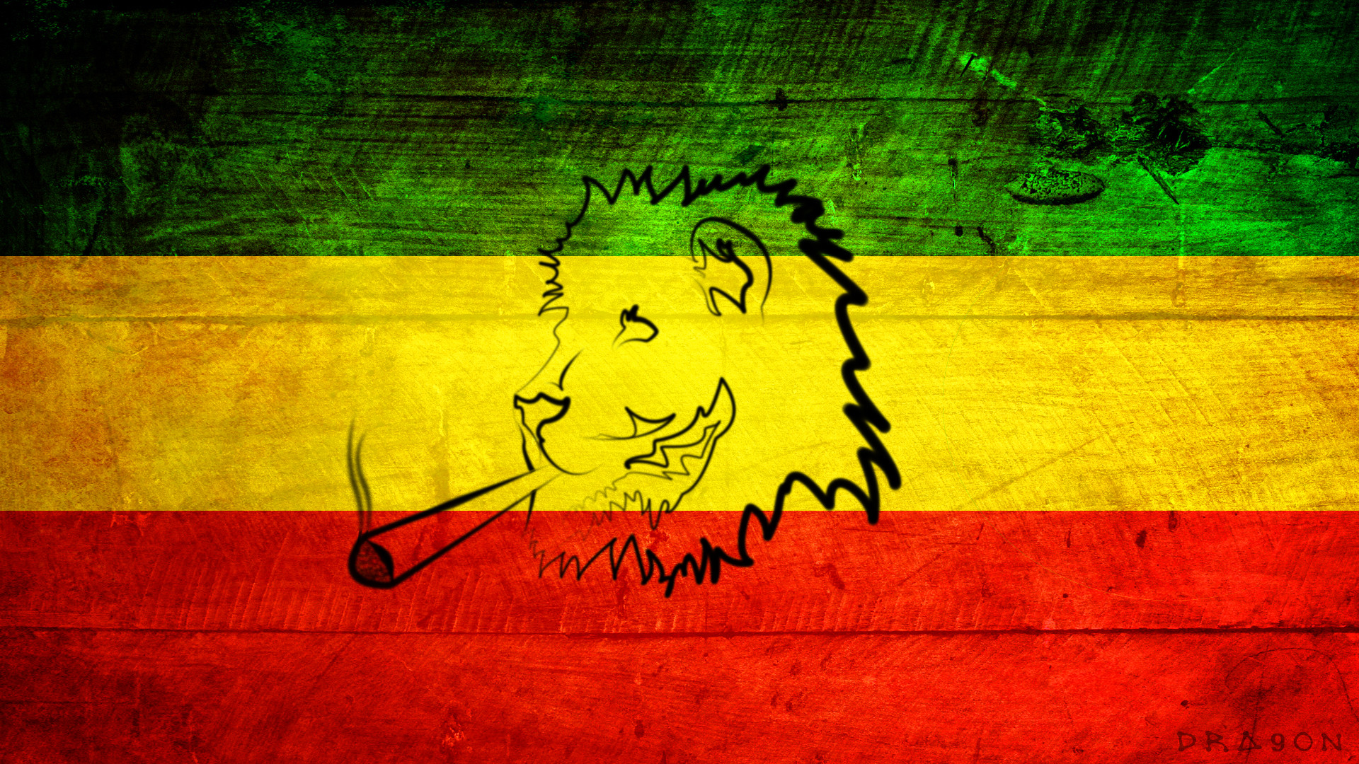 1920x1080 Rasta Lion With Dreads - wallpaper.