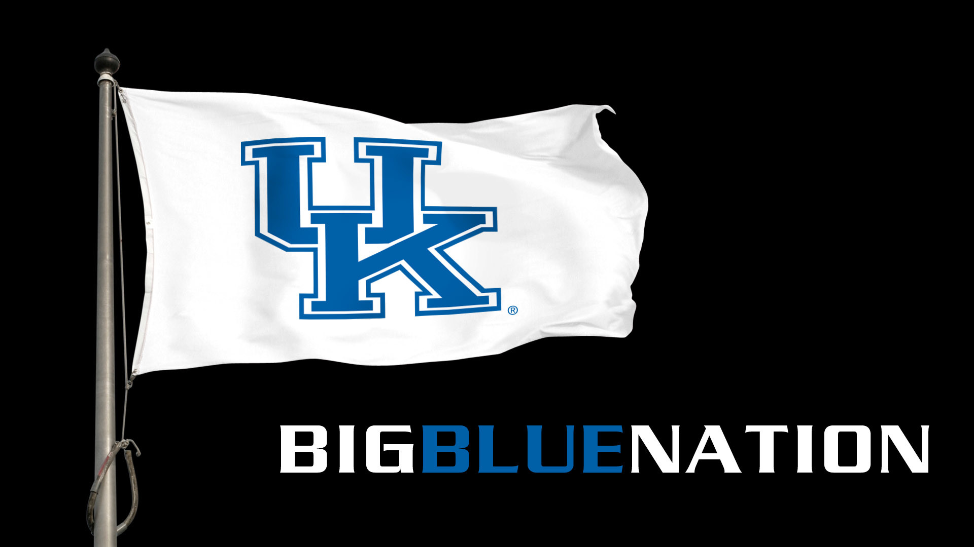 1920x1080 Big Blue Nation Flag Desktop Wallpaper