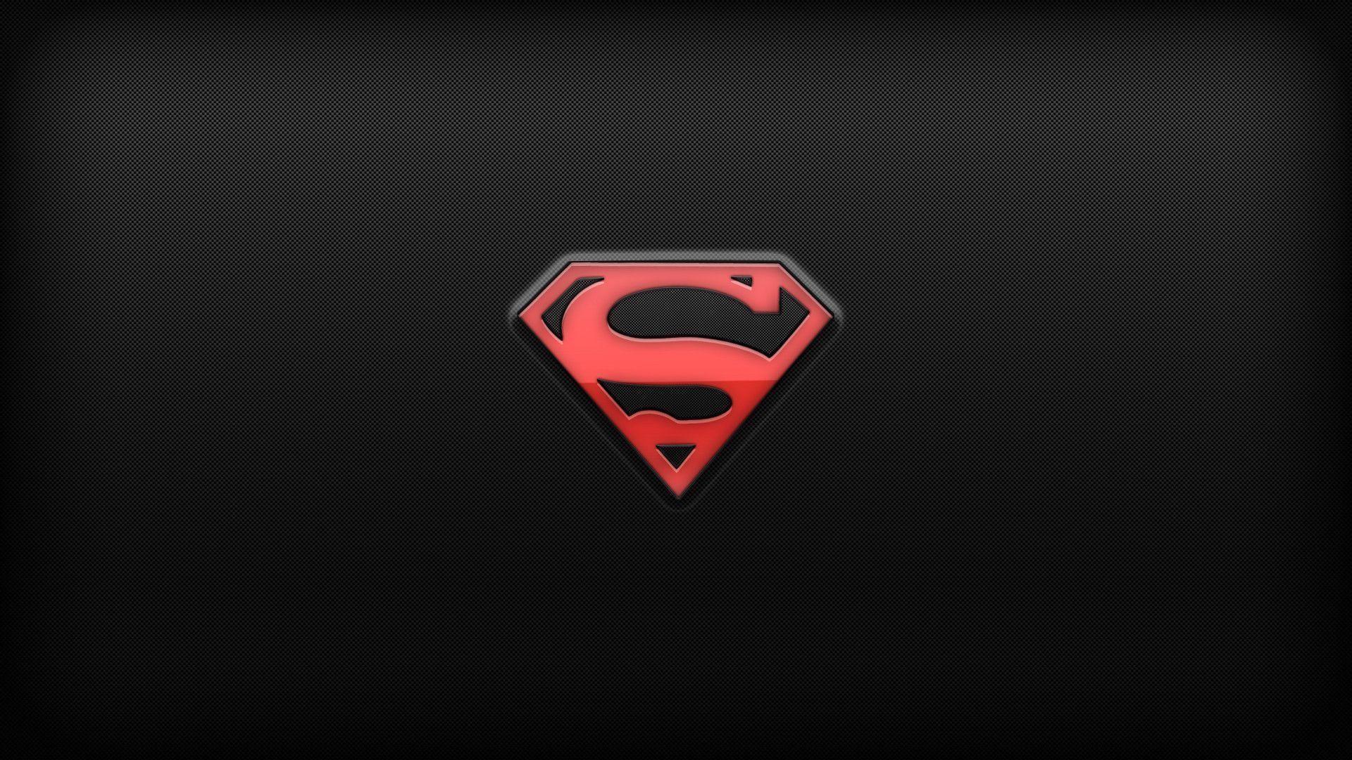 Superman, Logo, Dark Background Wallpaper