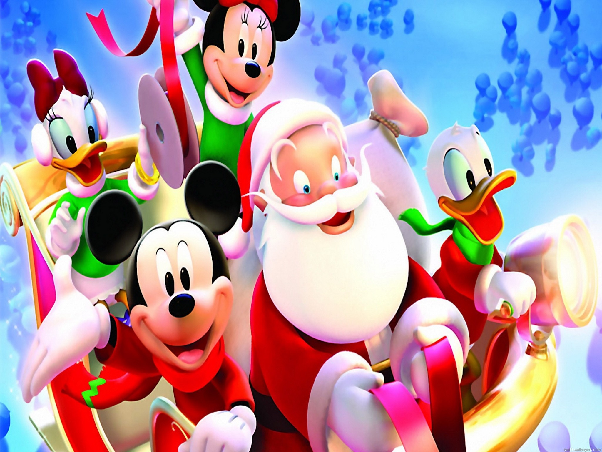 2048x1536 mickey santa christmas wallpaper iPad 3 Wallpaper iPad 3 Background