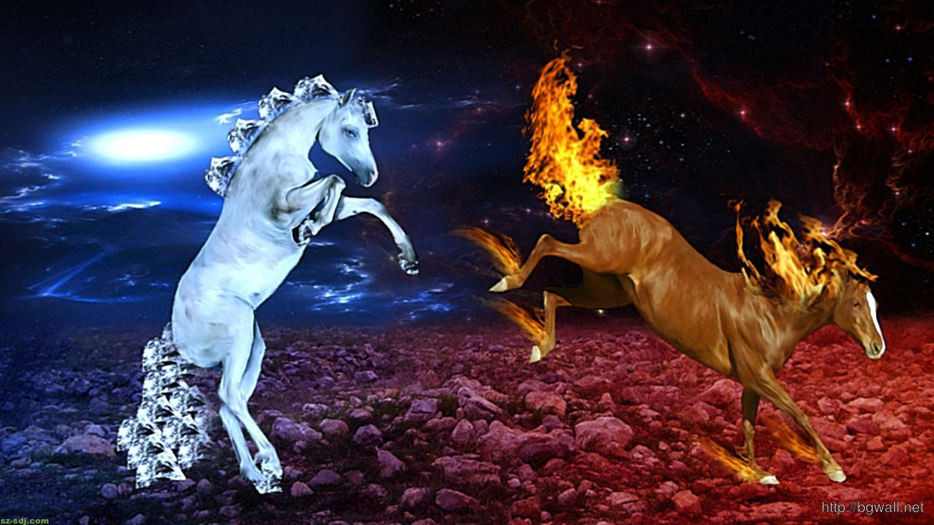 Red And Blue Fire Wallpaper 59 Images