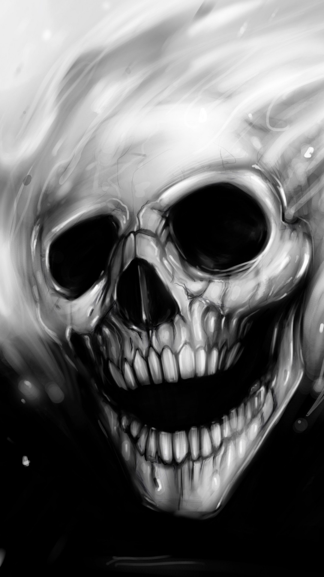 Scary wallpaper for iphone 56 images - Scary skull backgrounds ...
