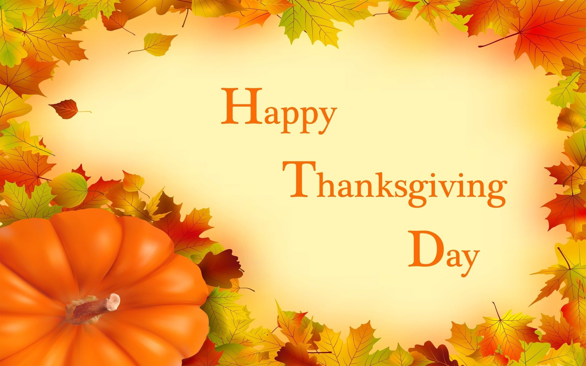 1920x1200 Happy Thanksgiving Day Wallpaper